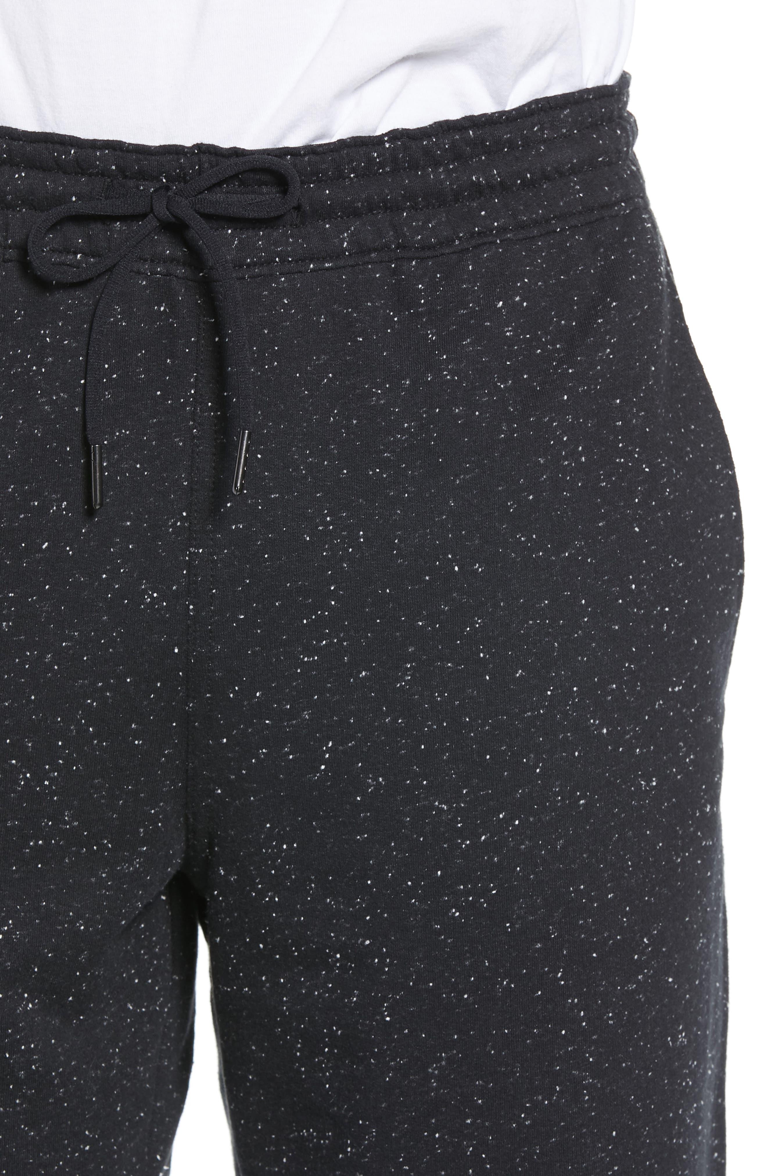 ZELLA, Neppy Fleece Athletic Shorts, Alternate thumbnail 5, color, 001