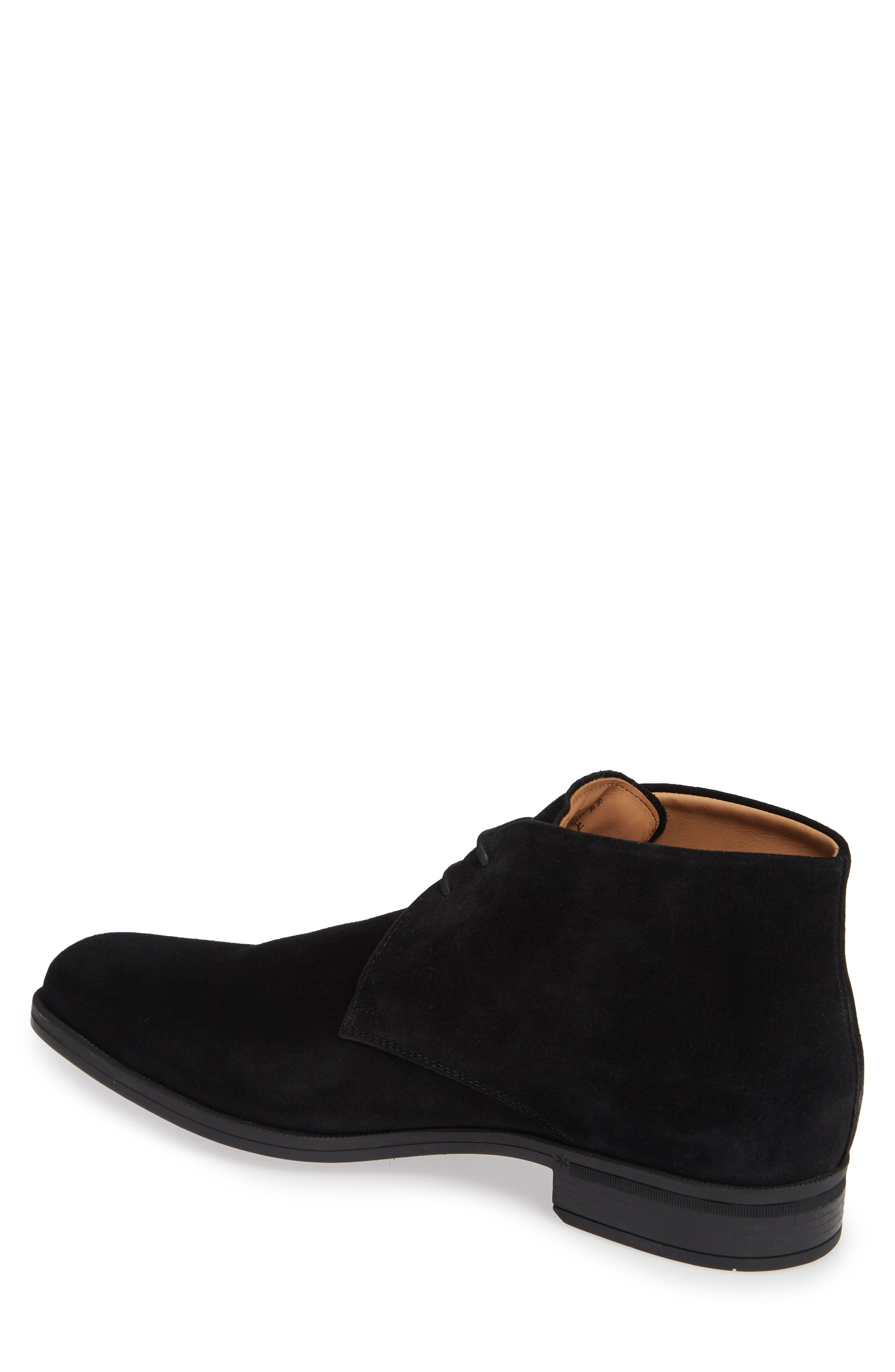 VINCE CAMUTO, Iden Chukka Boot, Alternate thumbnail 2, color, BLACK SUEDE