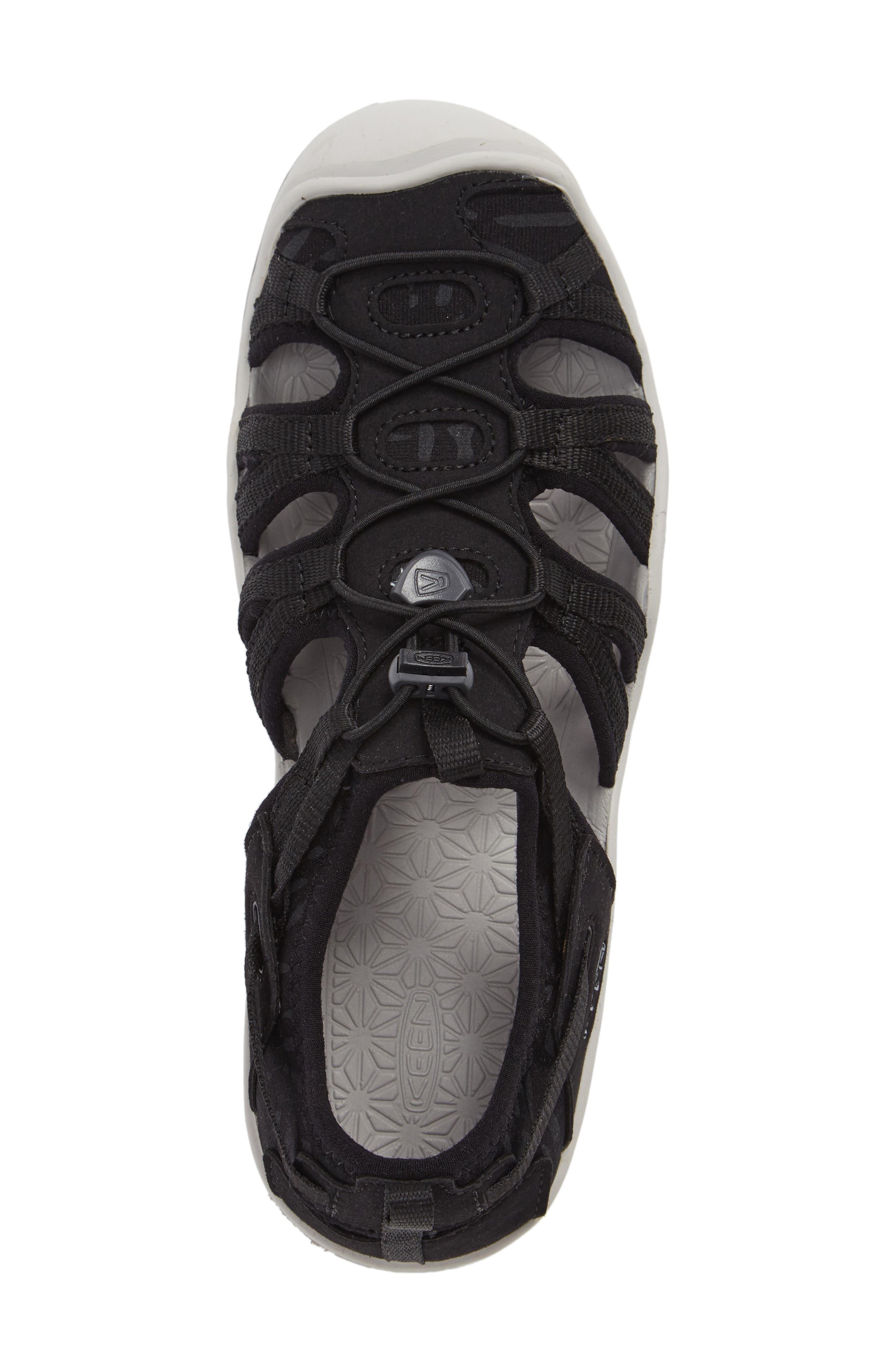 KEEN, Moxie Water Friendly Sandal, Alternate thumbnail 5, color, BLACK/ VAPOR