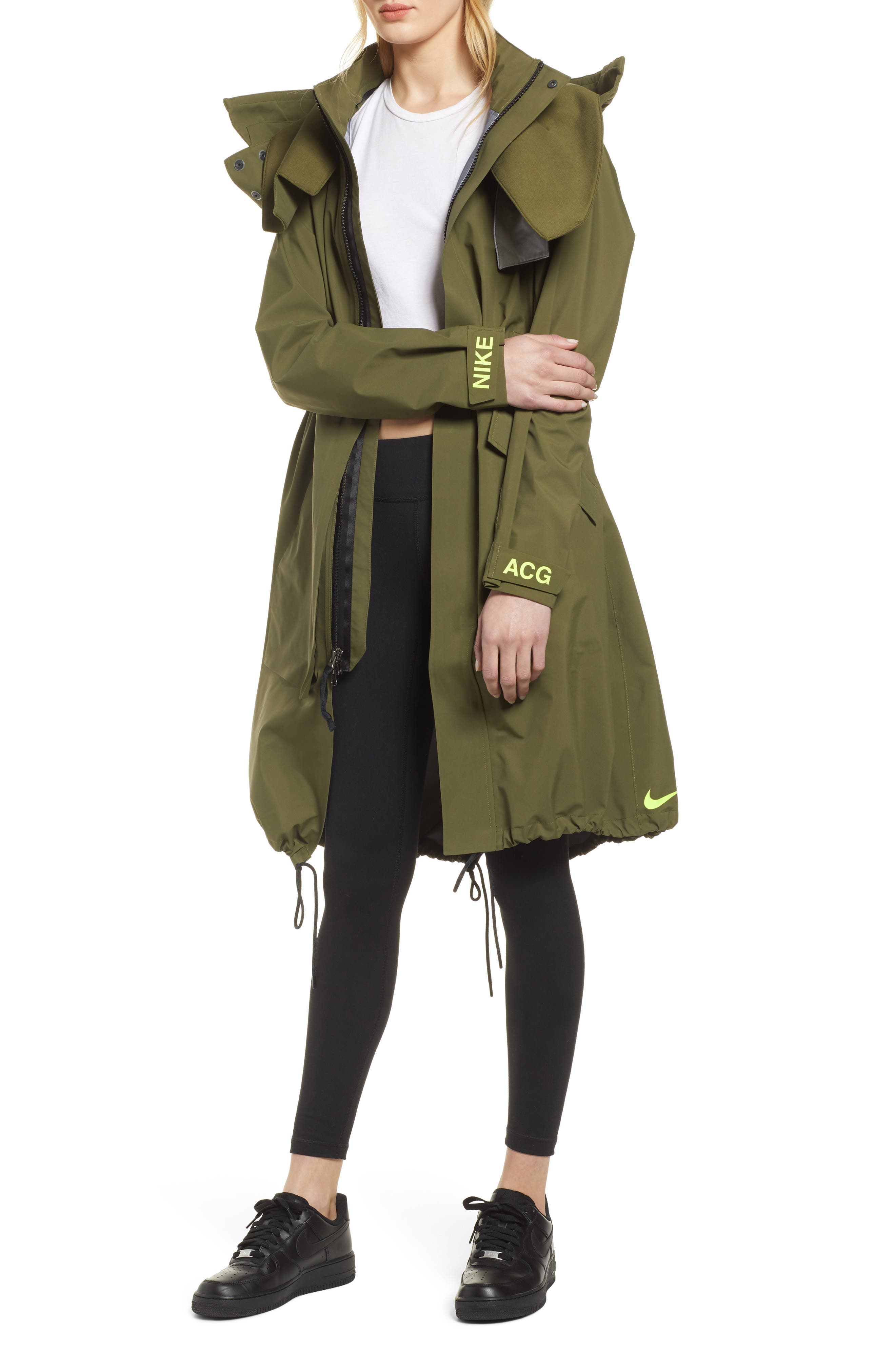 NIKE, NikeLab ACG GORE-TEX<sup>®</sup> Women's Jacket, Main thumbnail 1, color, OLIVE CANVAS