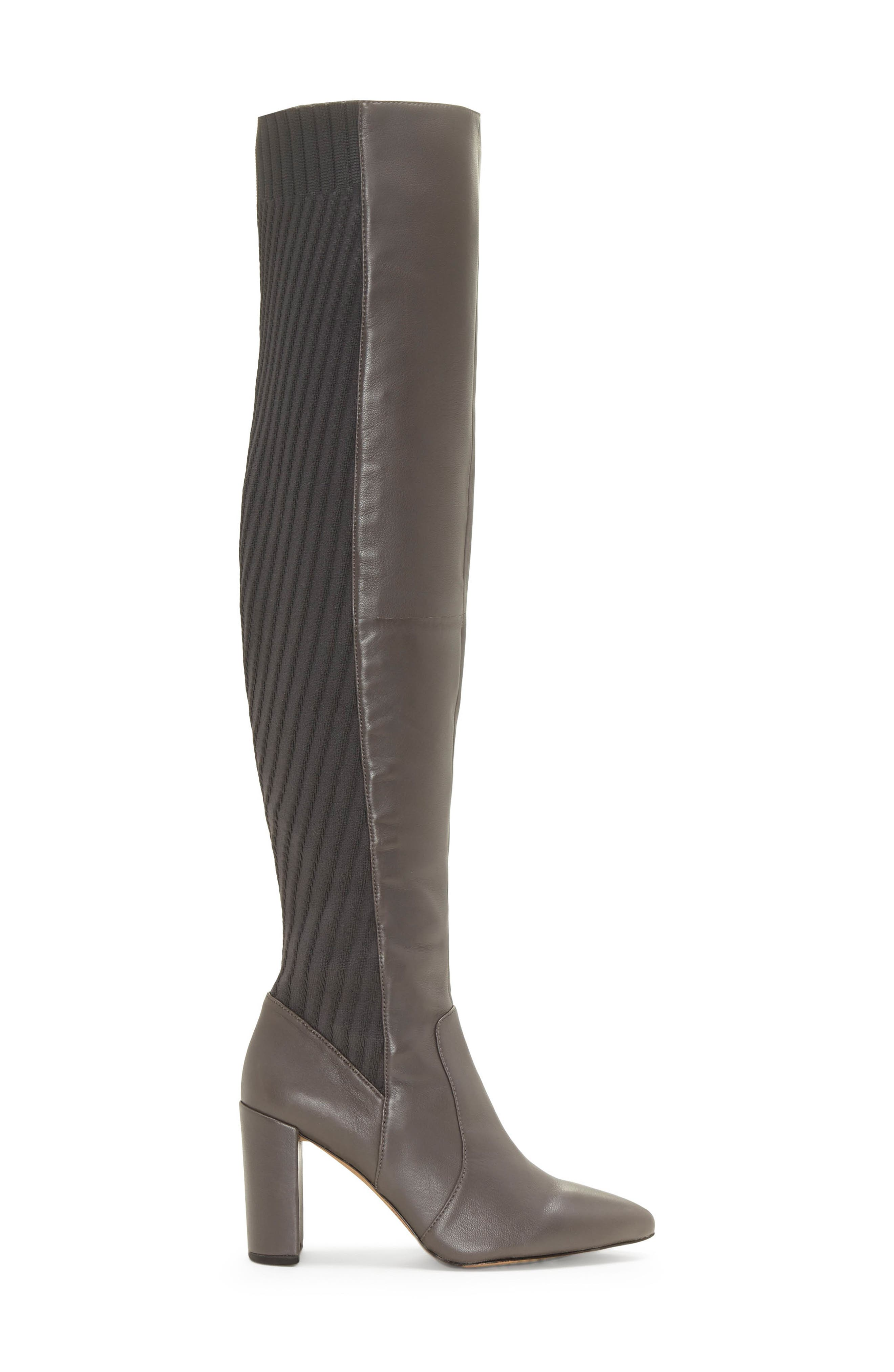 VINCE CAMUTO, Majestie Over the Knee Boot, Alternate thumbnail 3, color, THUNDER LEATHER