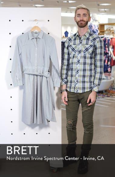 Stripe Tie-Waist Shirtdress, sales video thumbnail
