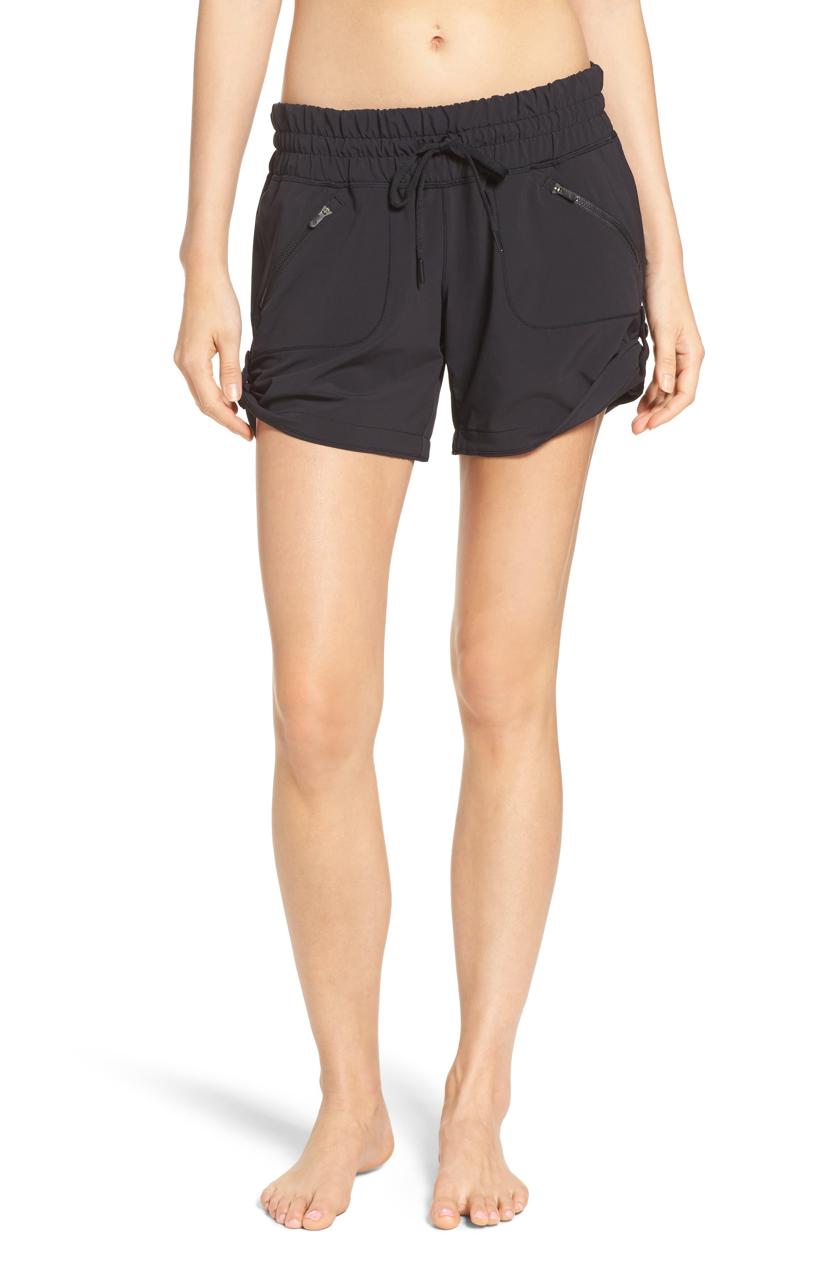 ZELLA Switchback Shorts, Main, color, BLACK