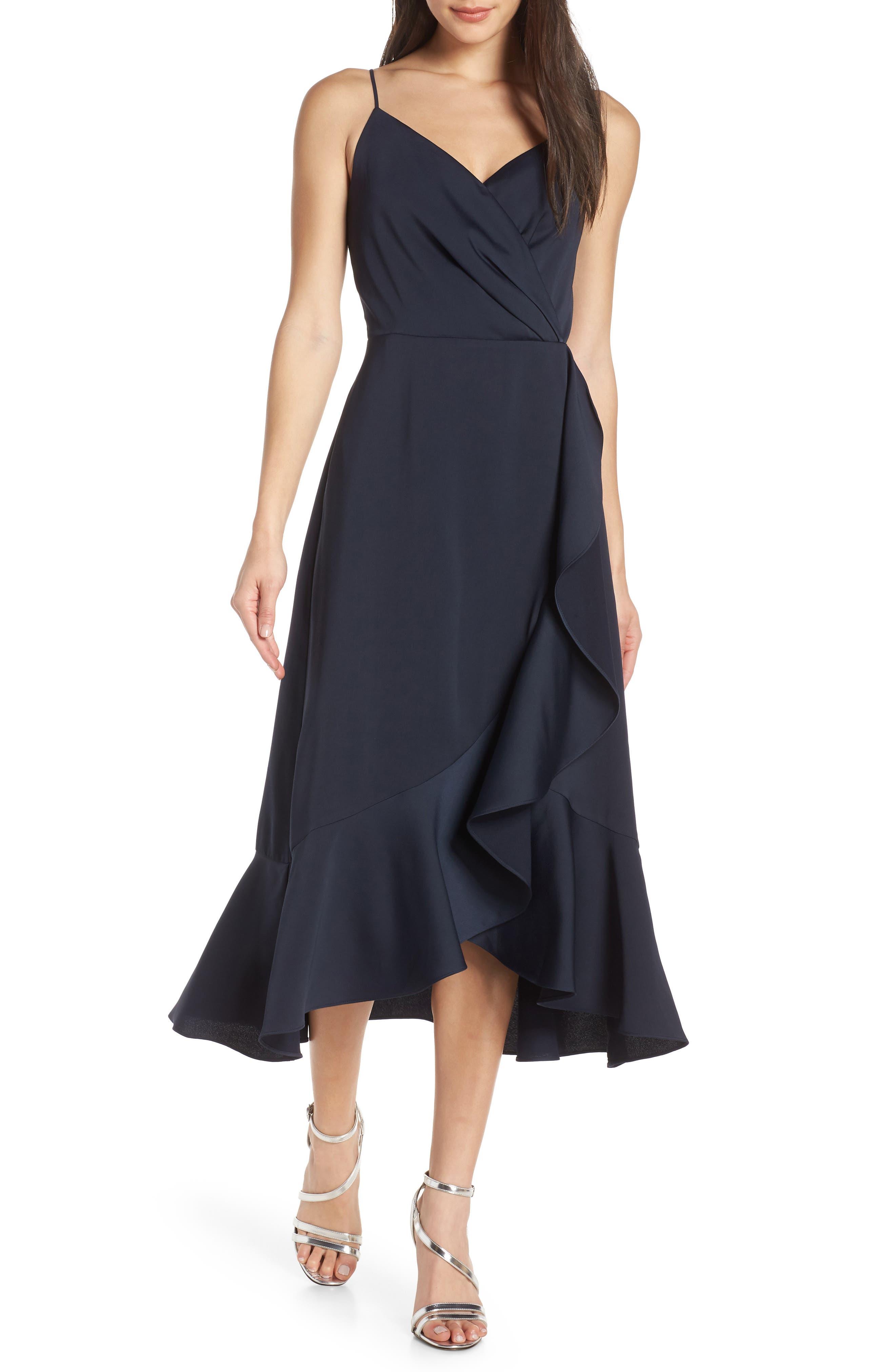 Chelsea28 A-Line Midi Dress, Blue