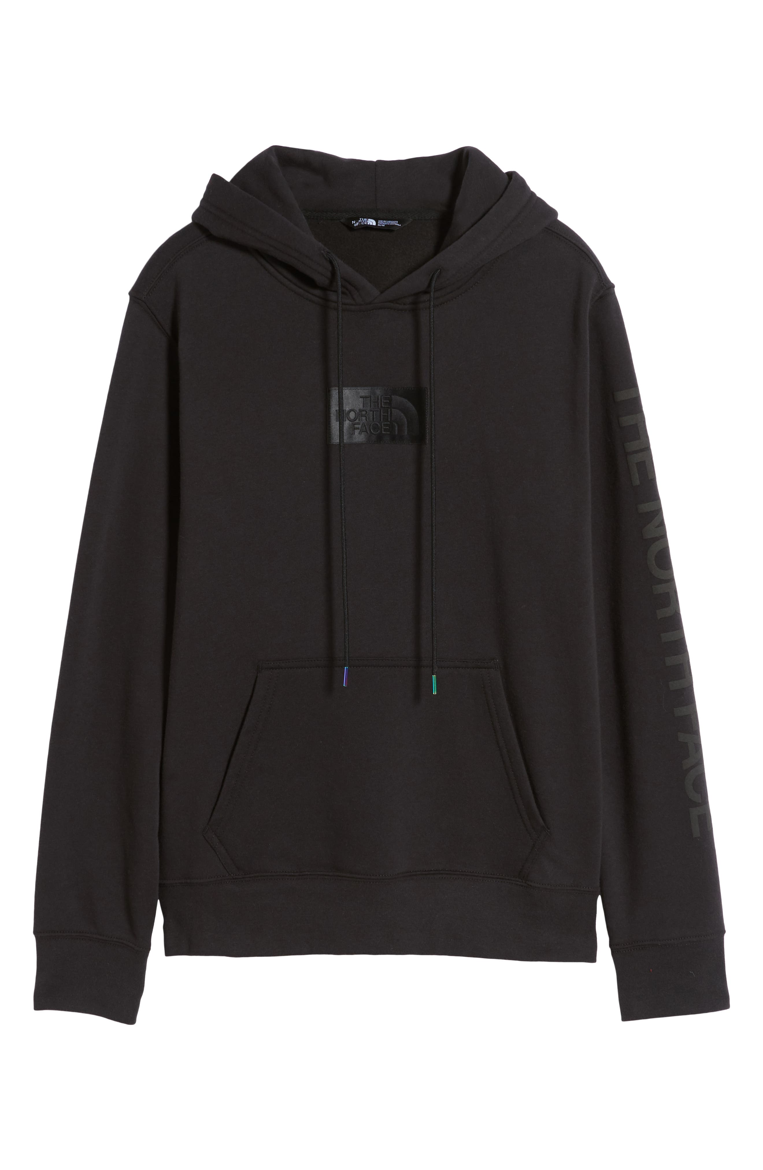 THE NORTH FACE, Urban Ex Collection Pullover Hoodie, Alternate thumbnail 6, color, TNF BLACK