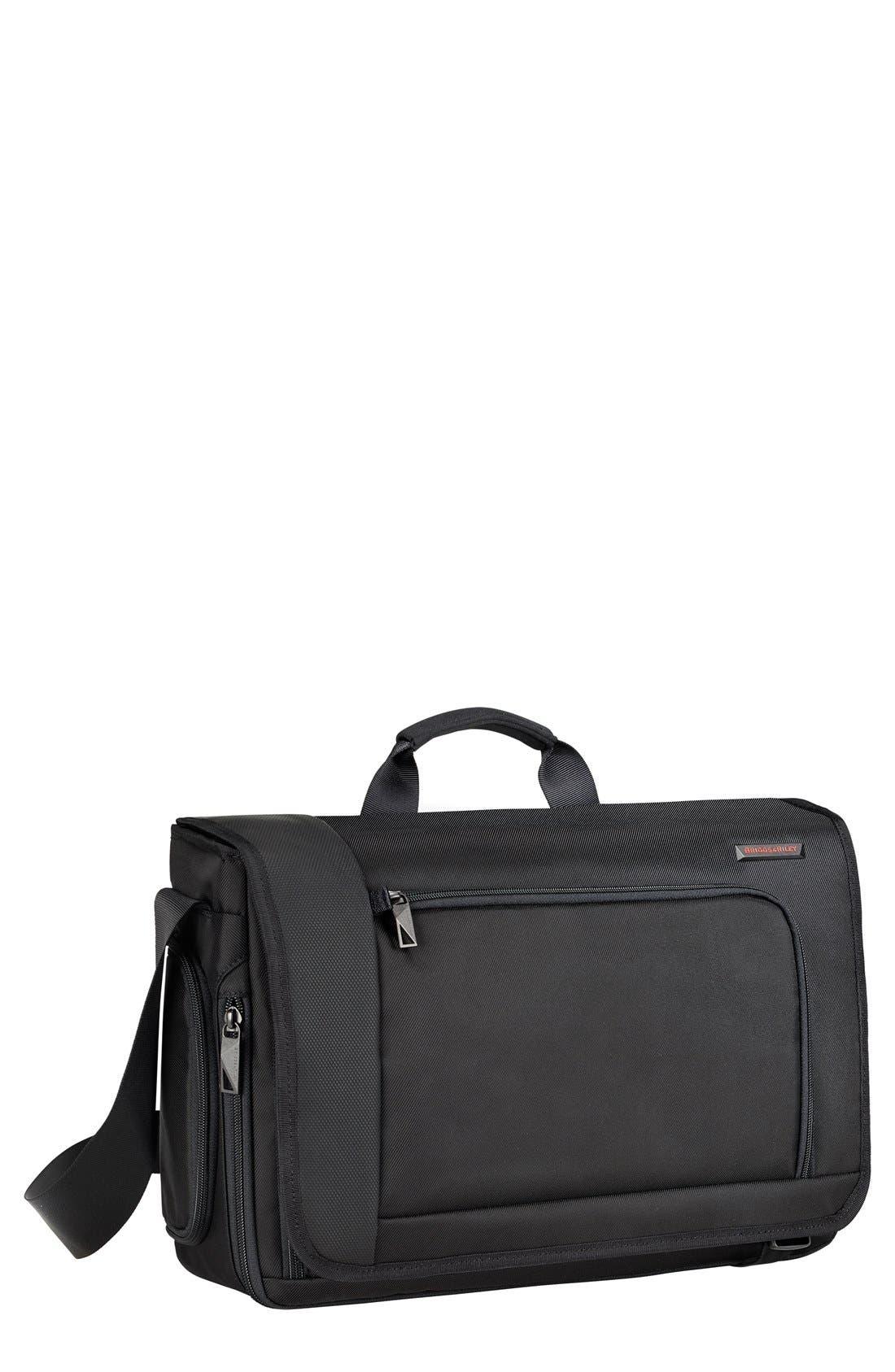 BRIGGS & RILEY 'Verb - Dispatch' Messenger Bag, Main, color, BLACK