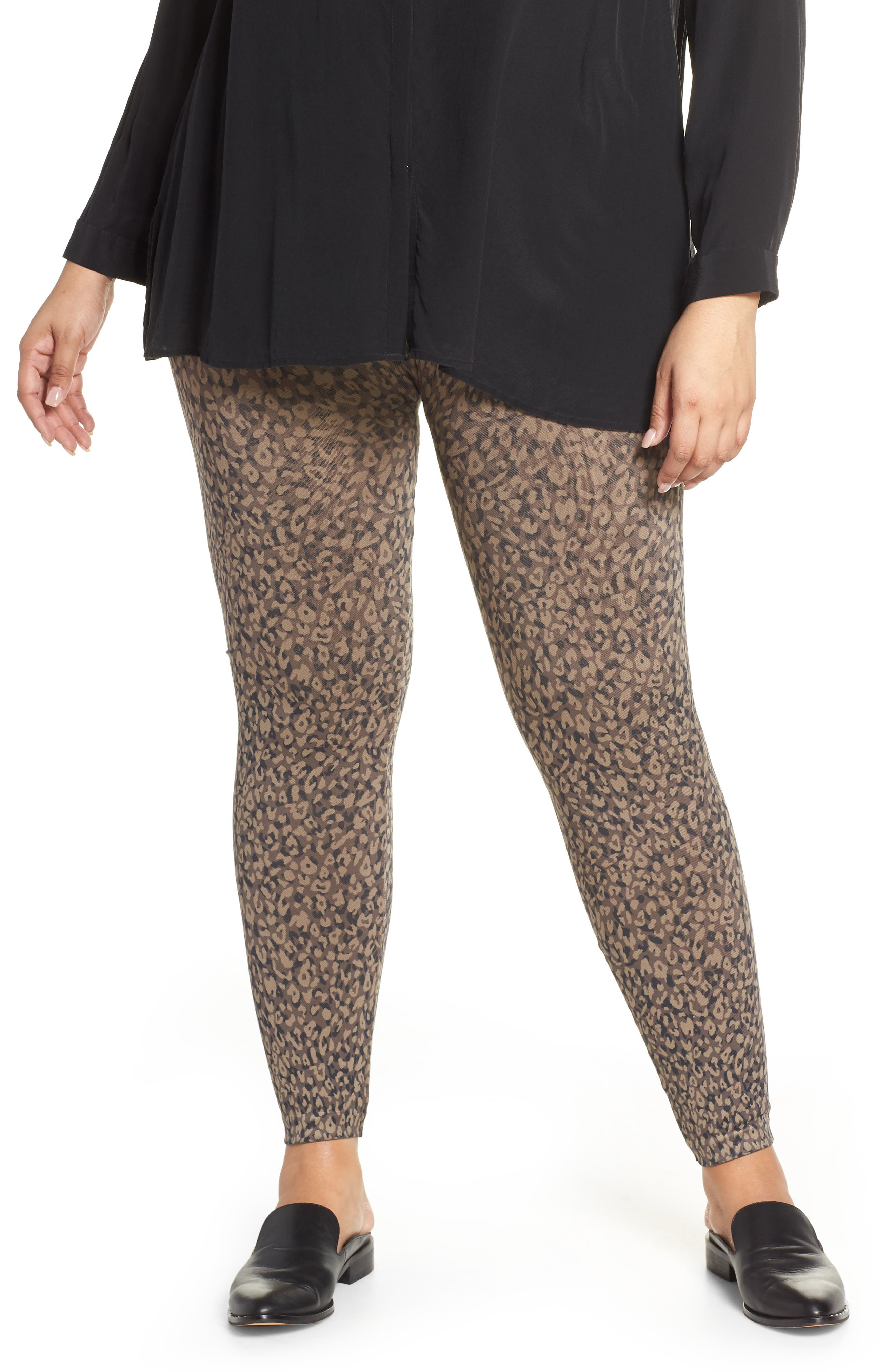 SPANX<SUP>®</SUP>, Look At Me Now Seamless Leggings, Main thumbnail 1, color, MINI LEOPARD