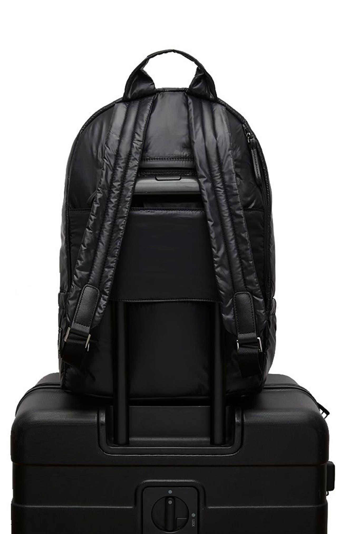 CARAA, Stratus Waterproof Backpack, Alternate thumbnail 10, color, BLACK