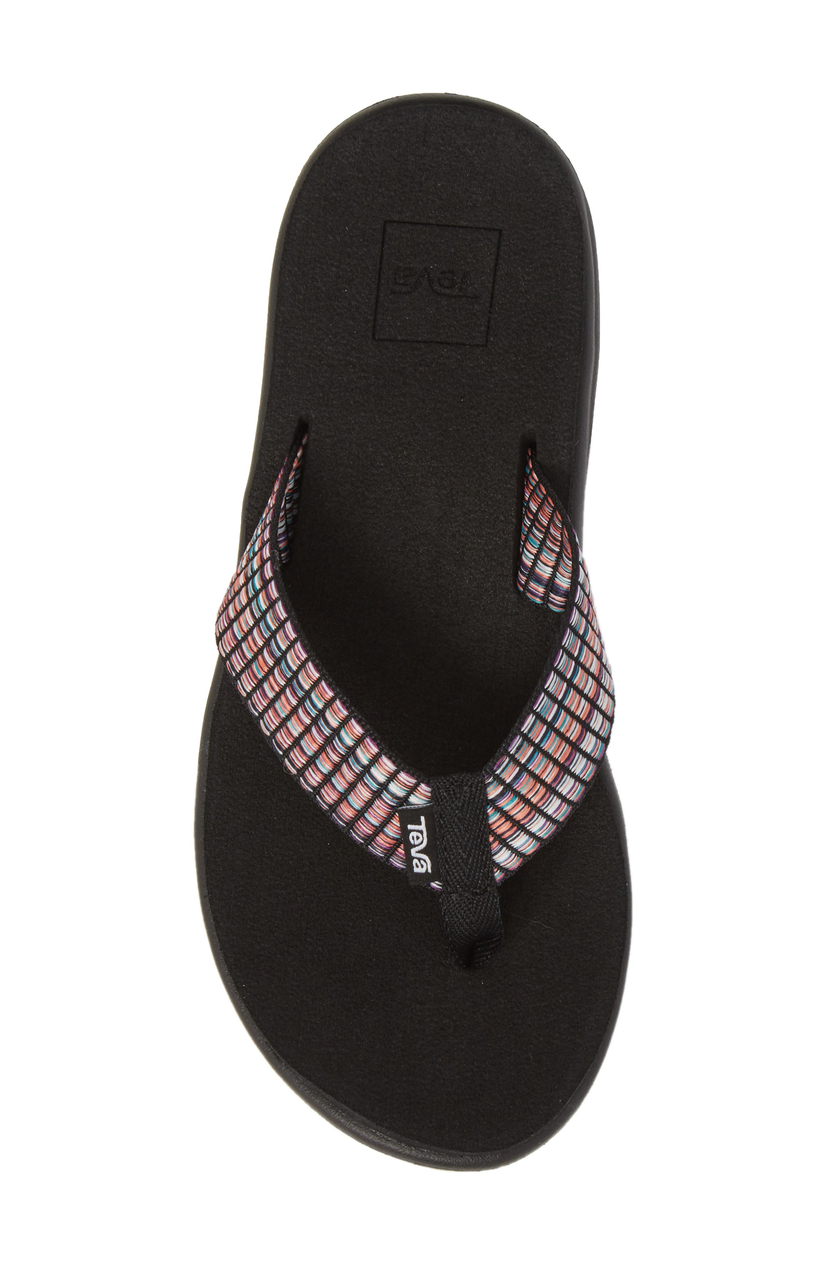 TEVA, Voya Flip Flop, Alternate thumbnail 5, color, 001