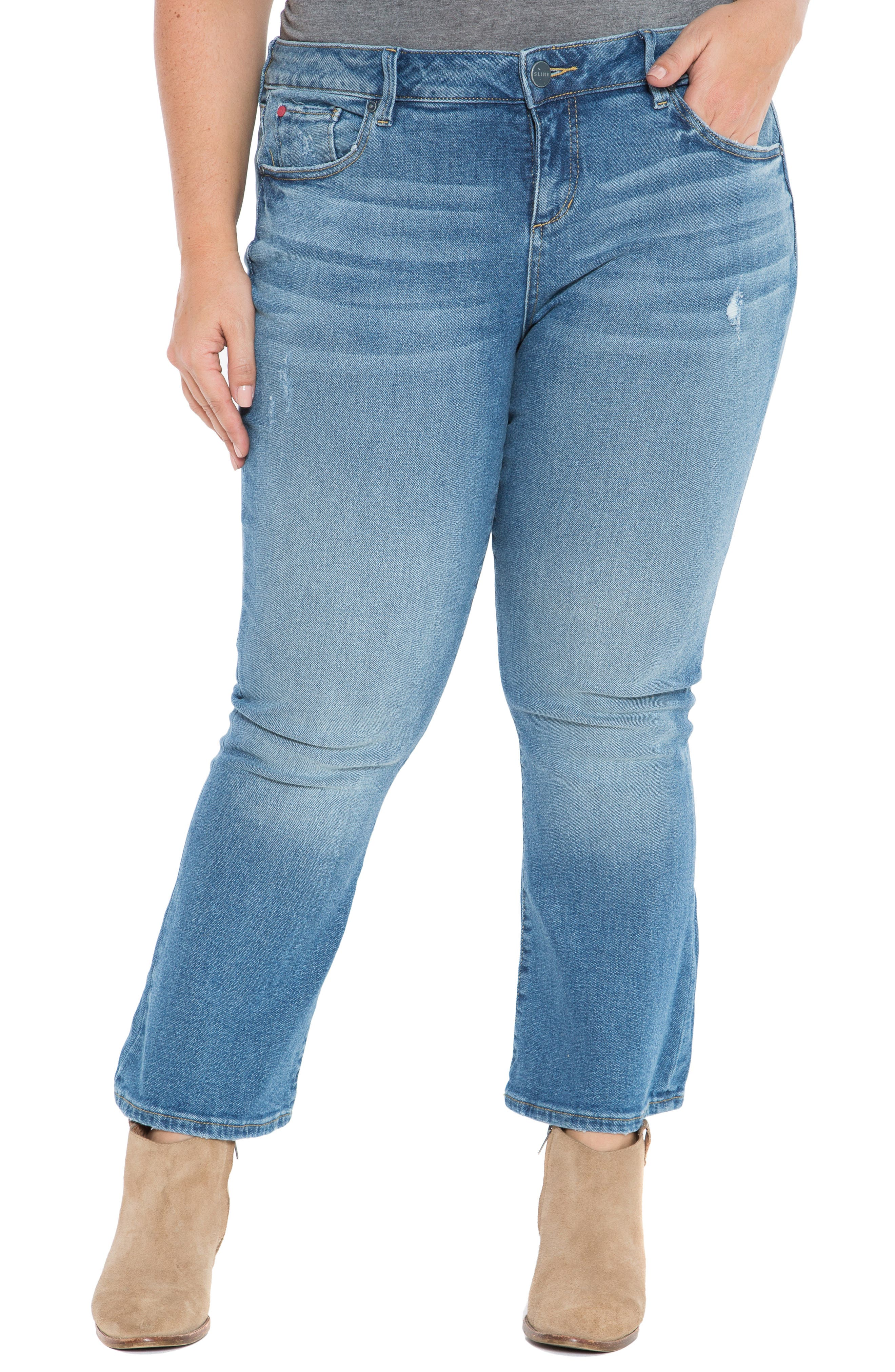 SLINK JEANS, Crop Flare Jeans, Main thumbnail 1, color, PATTI