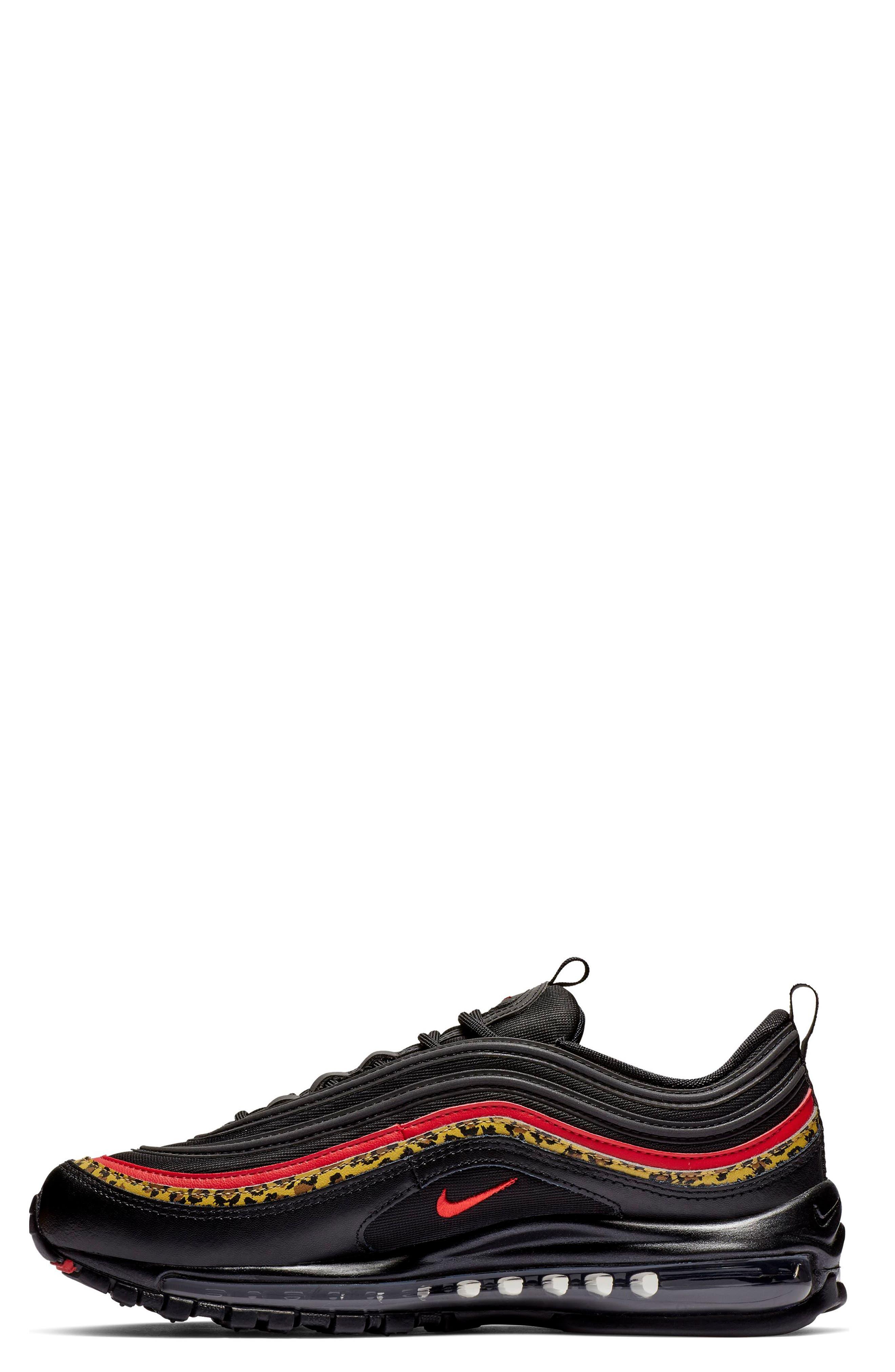 NIKE, Air Max 97 Sneaker, Alternate thumbnail 3, color, 001