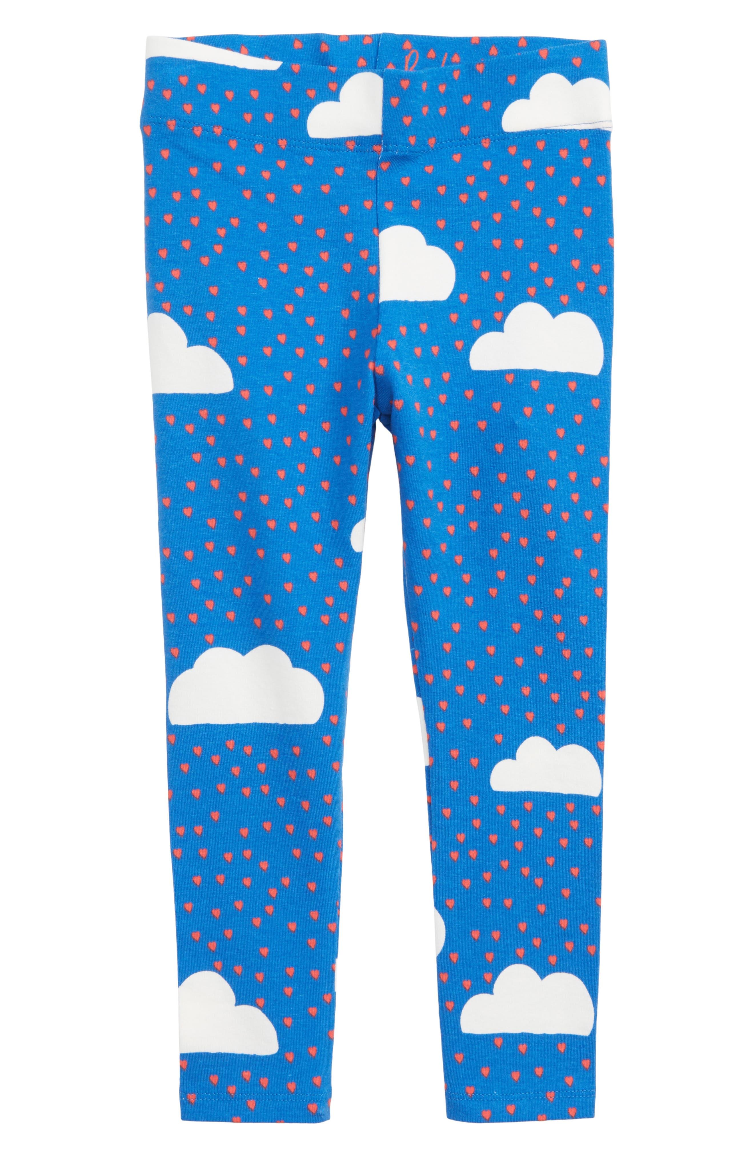 Toddler Girls Mini Boden Fun Print Leggings Size 34Y  Blue
