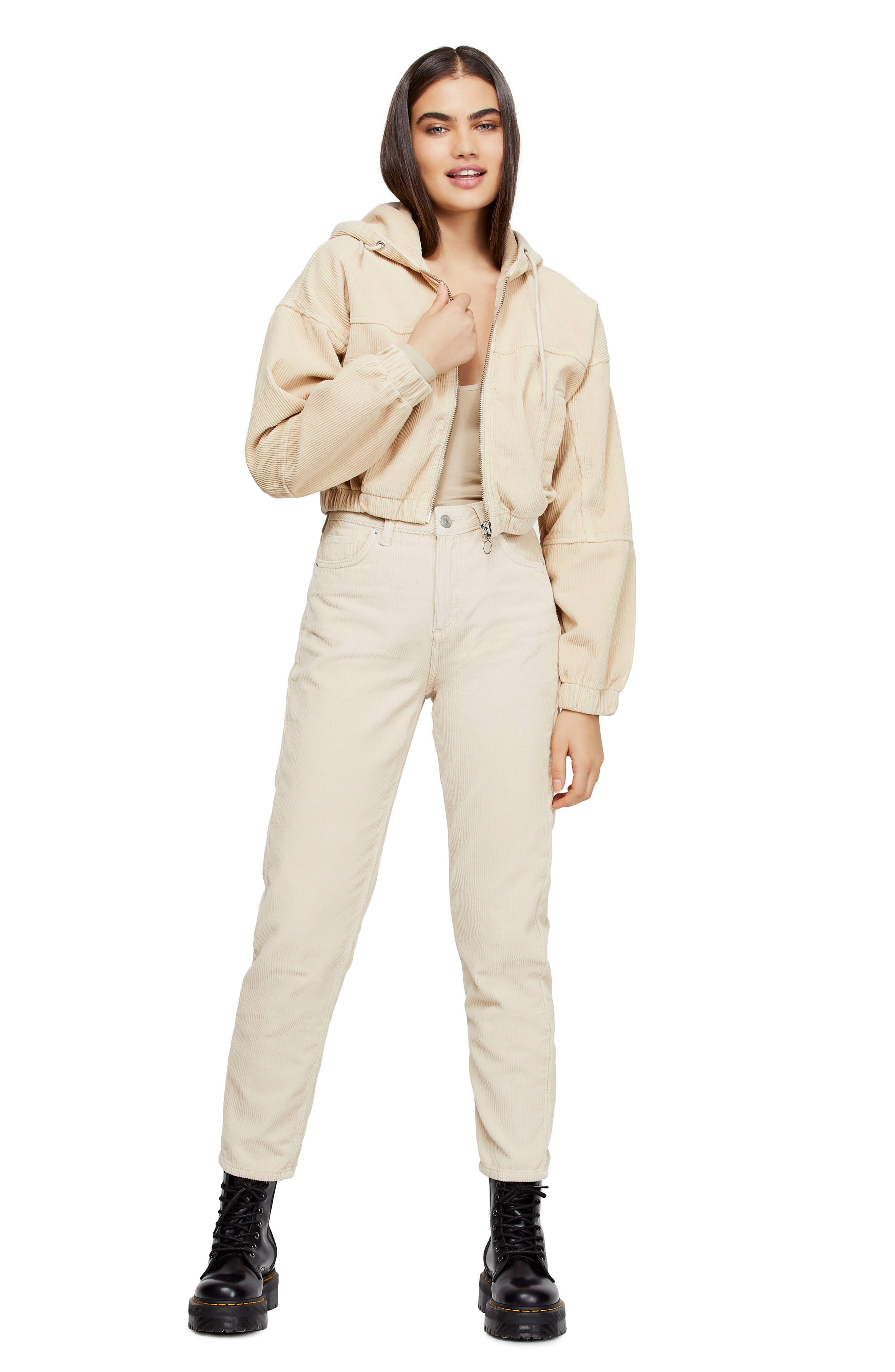 BDG, Urban Outfitters Mom Corduroy Pants, Alternate thumbnail 6, color, WHITE