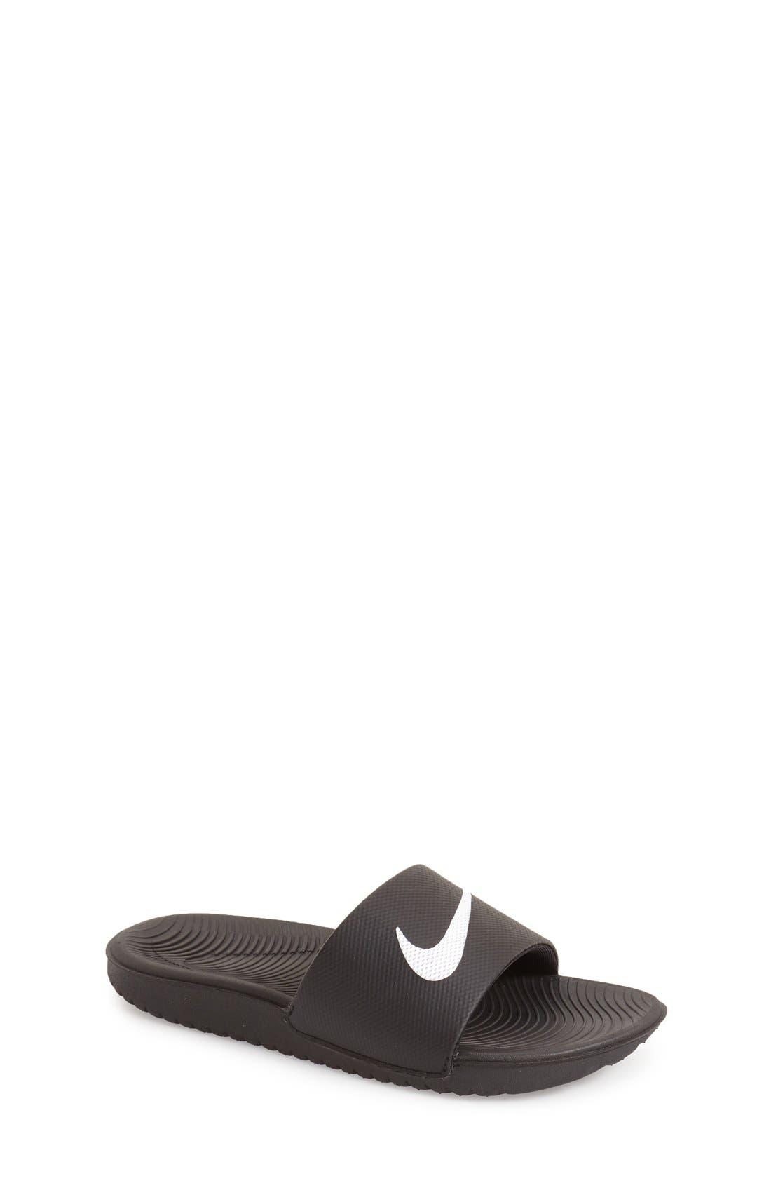 555881b44 UPC 676556451155 - Nike Kawa Slide Boys Sandals - Little Kids Big ...
