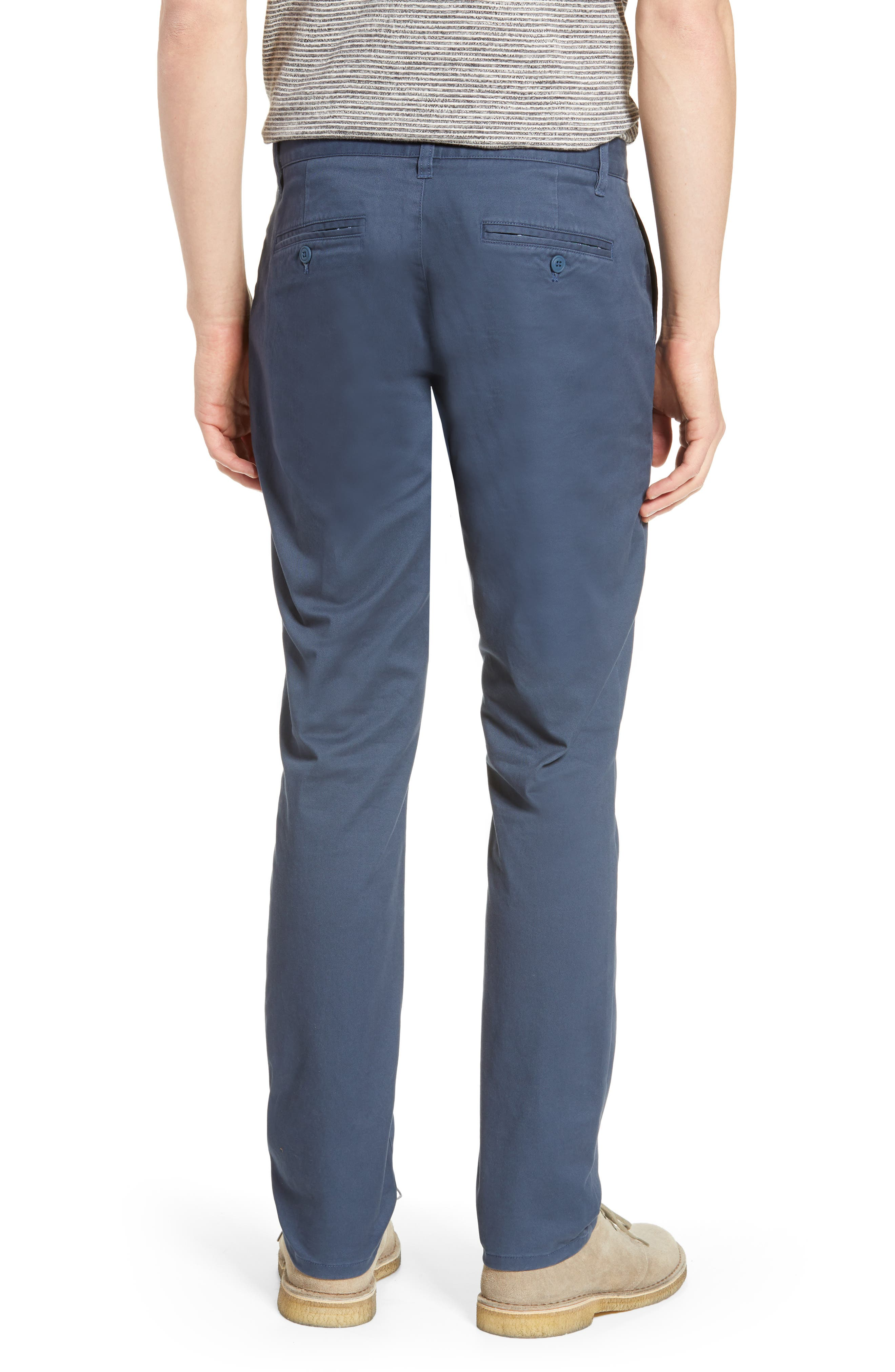 BONOBOS, Tailored Fit Washed Stretch Cotton Chinos, Alternate thumbnail 2, color, STEELY