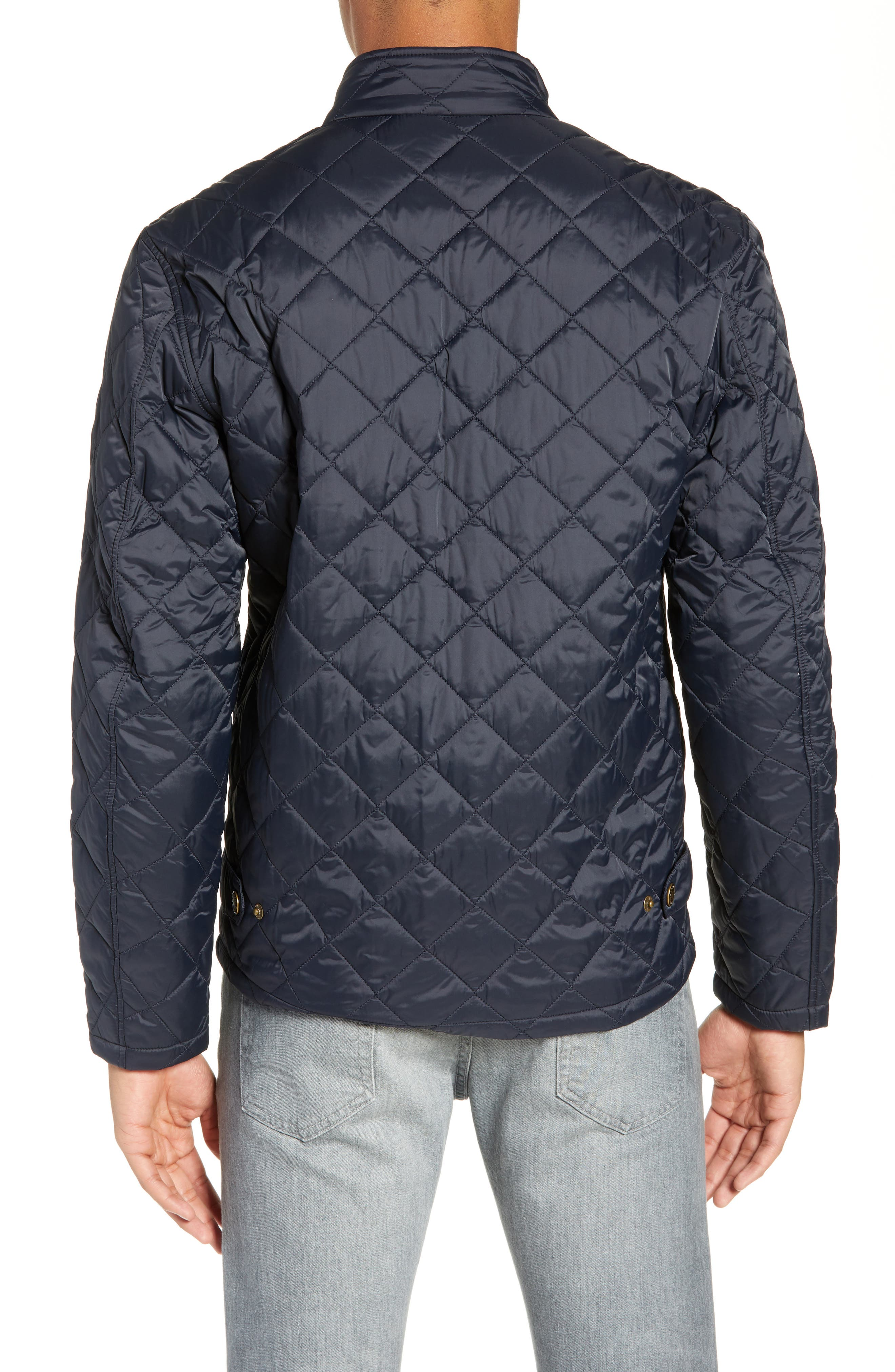 BARBOUR, Barbout Abaft Quilted Jacket, Alternate thumbnail 2, color, NAVY