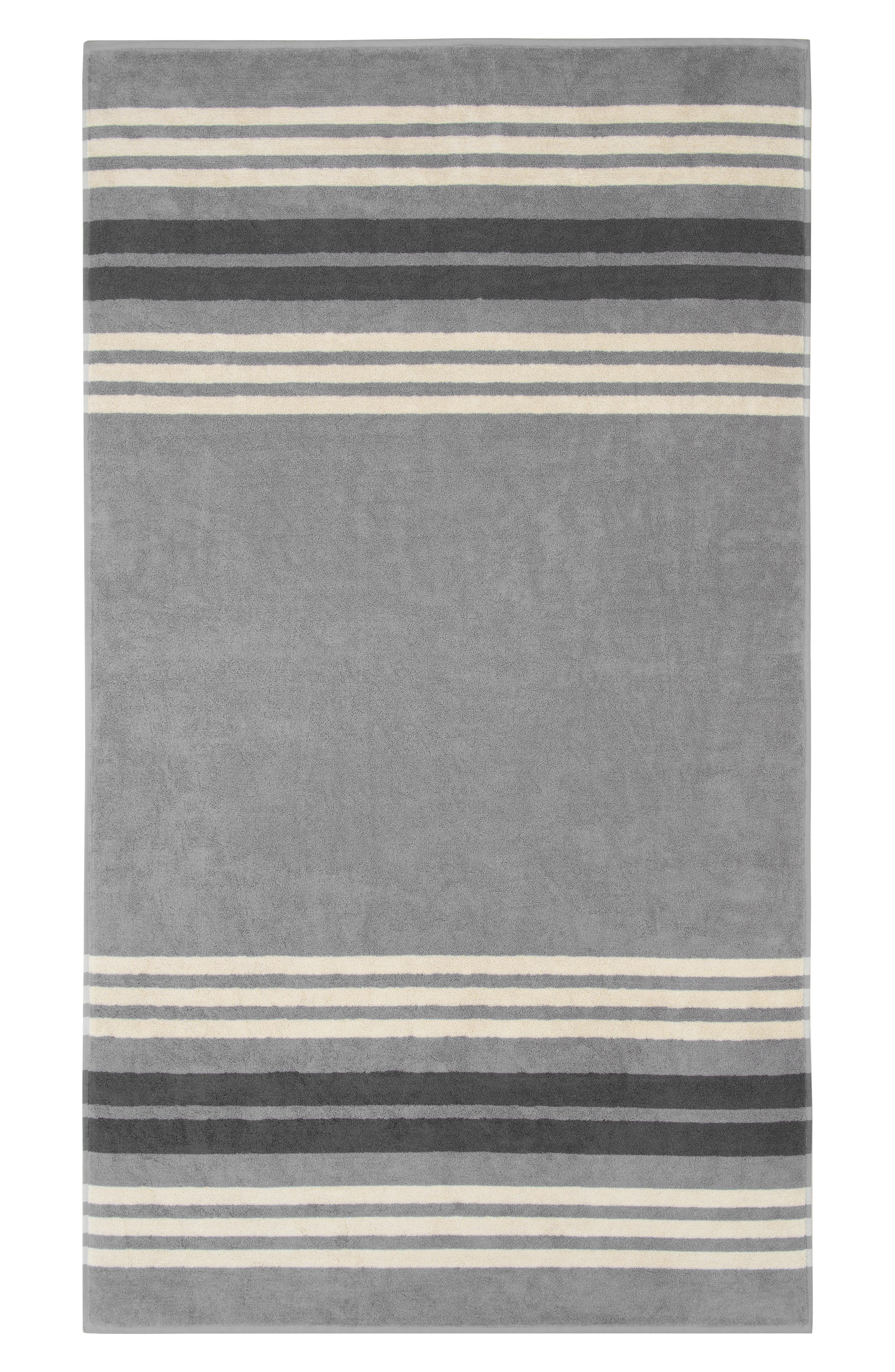 UGG<SUP>®</SUP>, Monica Stripe Beach Towel, Main thumbnail 1, color, SEAL MULTI