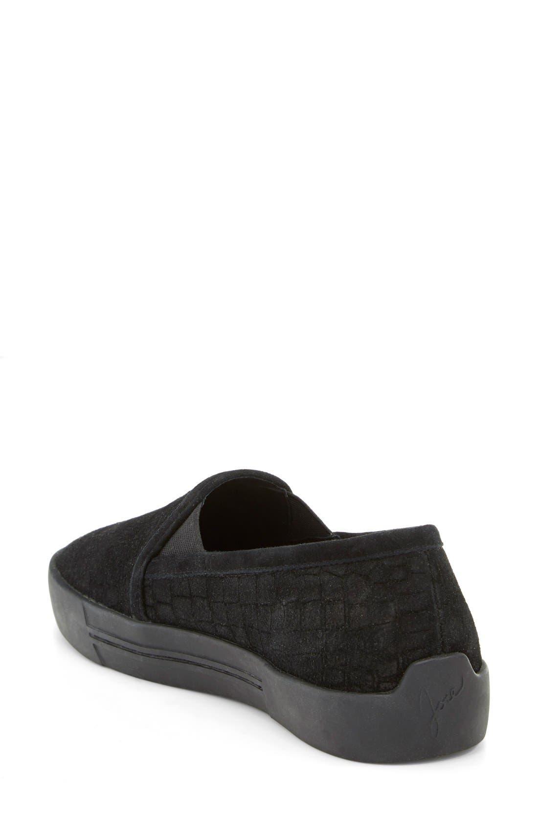 JOIE, 'Huxley' Slip-On Sneaker, Alternate thumbnail 2, color, 001