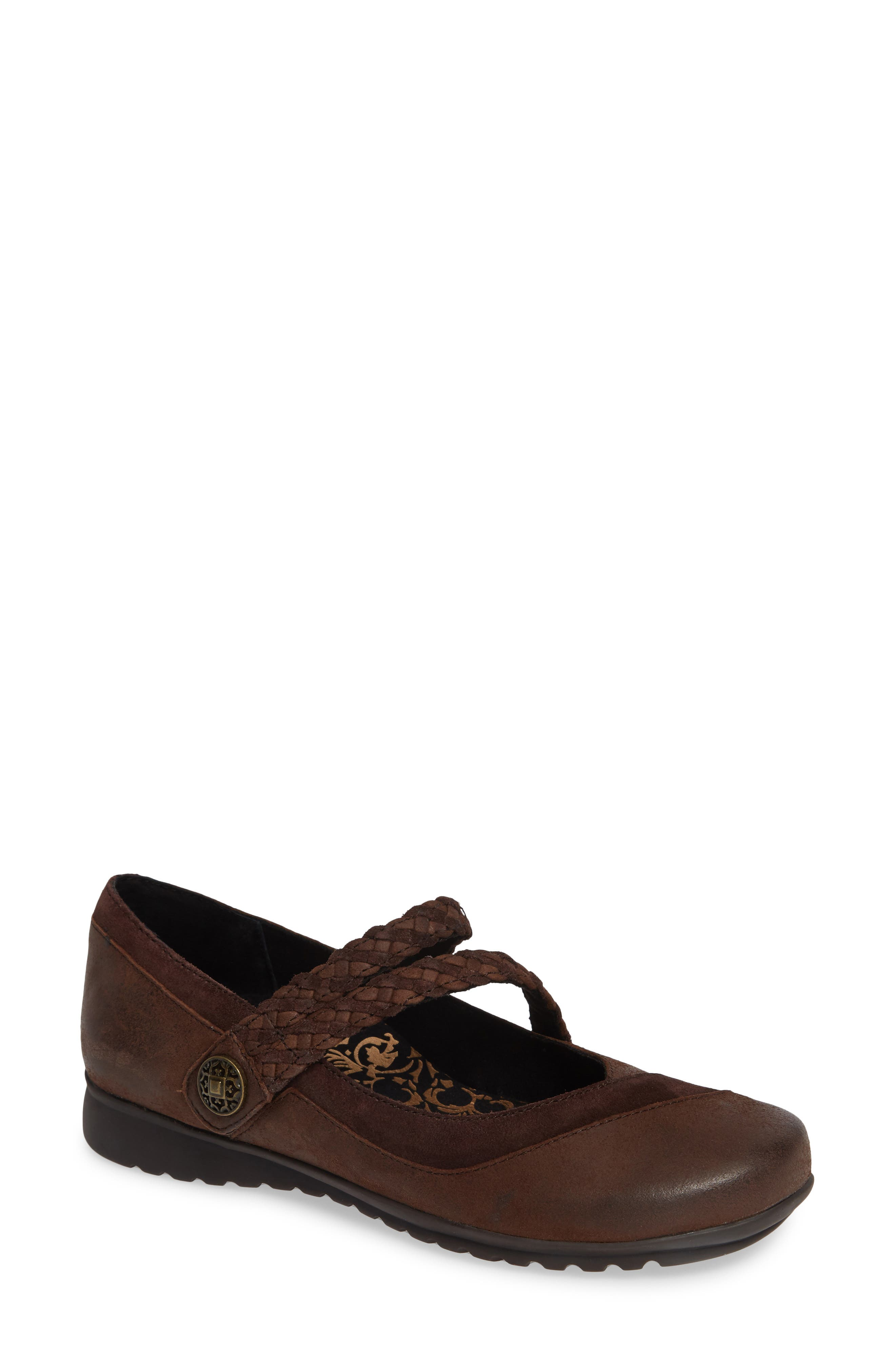 AETREX 'Ada' Mary Jane, Main, color, CHOCOLATE LEATHER
