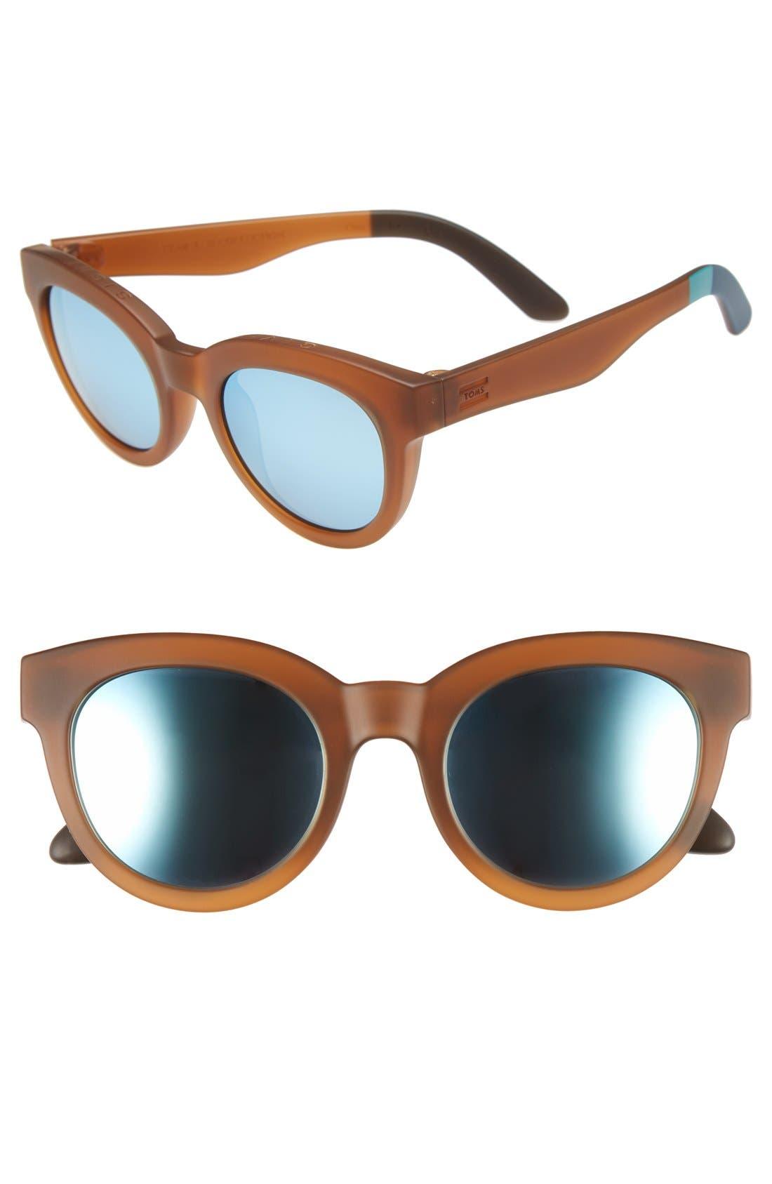 TOMS 'Florentin' 54mm Retro Sunglasses, Main, color, 200