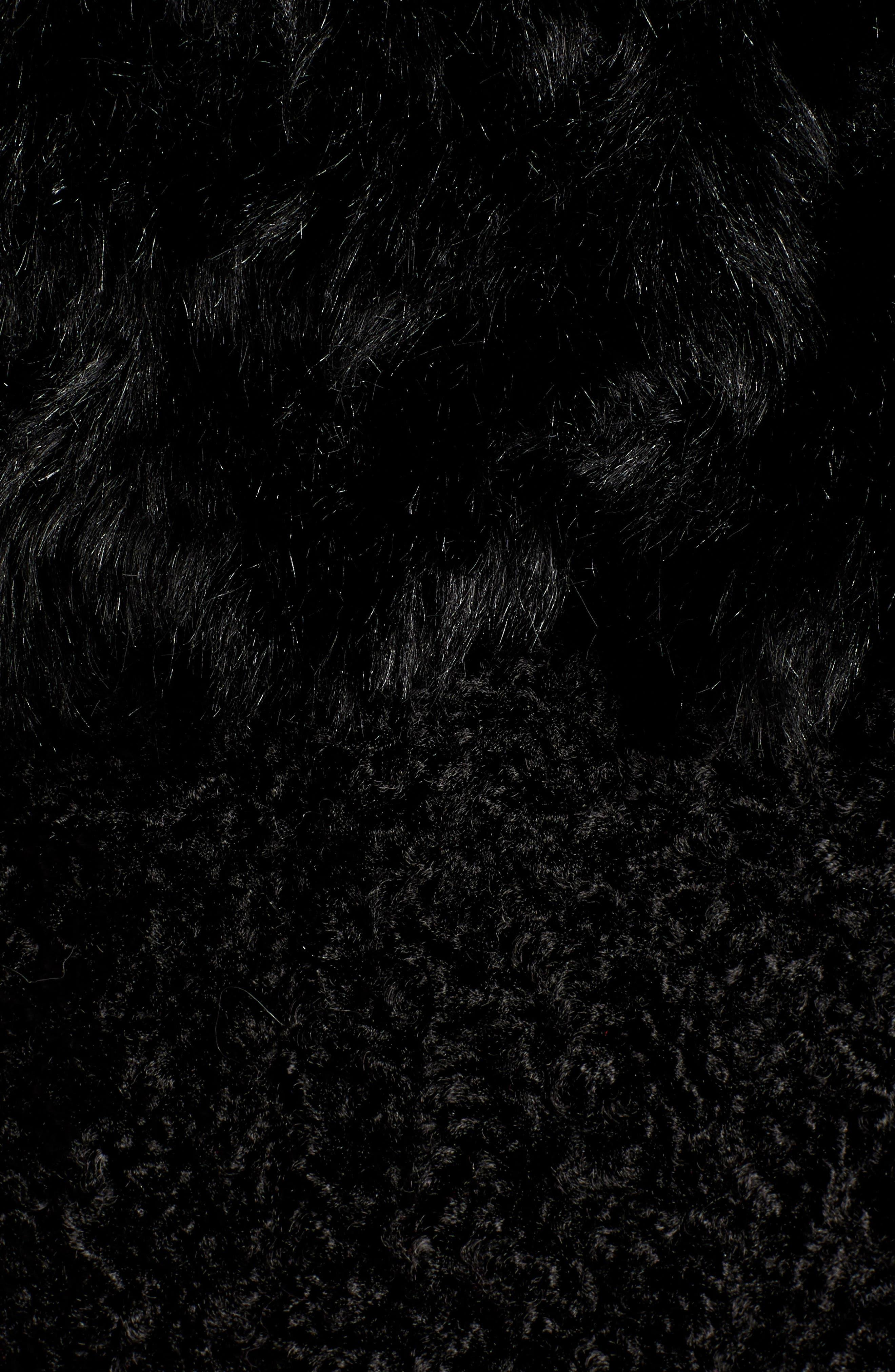KENSIE, Faux Fur Patchwork Coat, Alternate thumbnail 7, color, 001