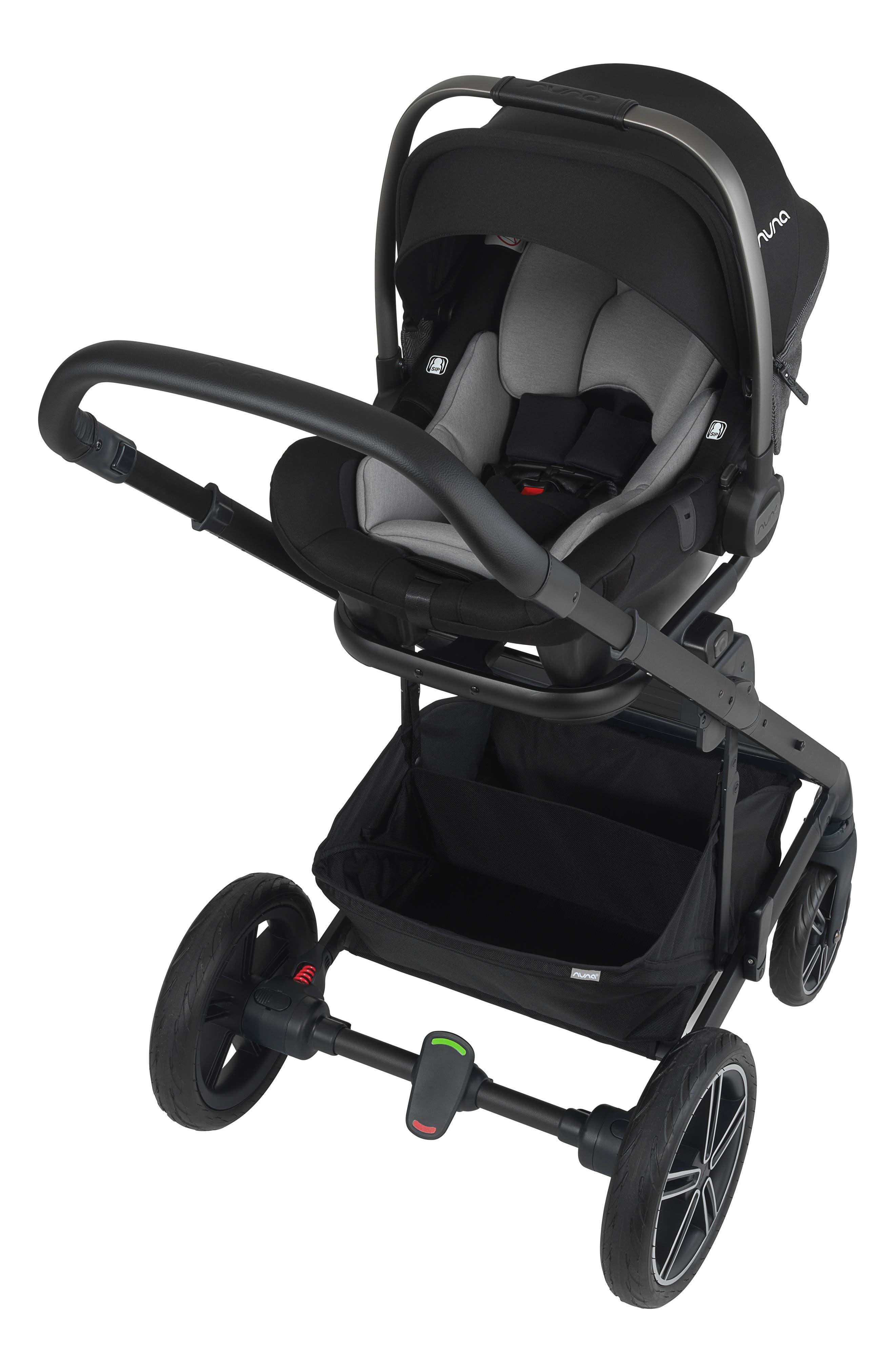 NUNA, 2019 MIXX<sup>™</sup> Stroller & PIPA<sup>™</sup> Lite LX Infant Car Seat Set Travel System, Alternate thumbnail 8, color, VERONA CAVIAR