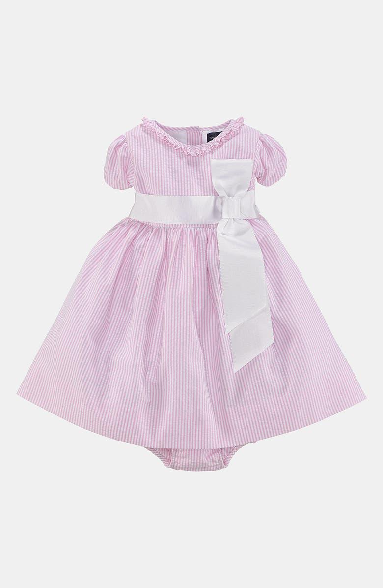183e2117f Ralph Lauren Seersucker Dress & Bloomers (Baby Girls)   Nordstrom