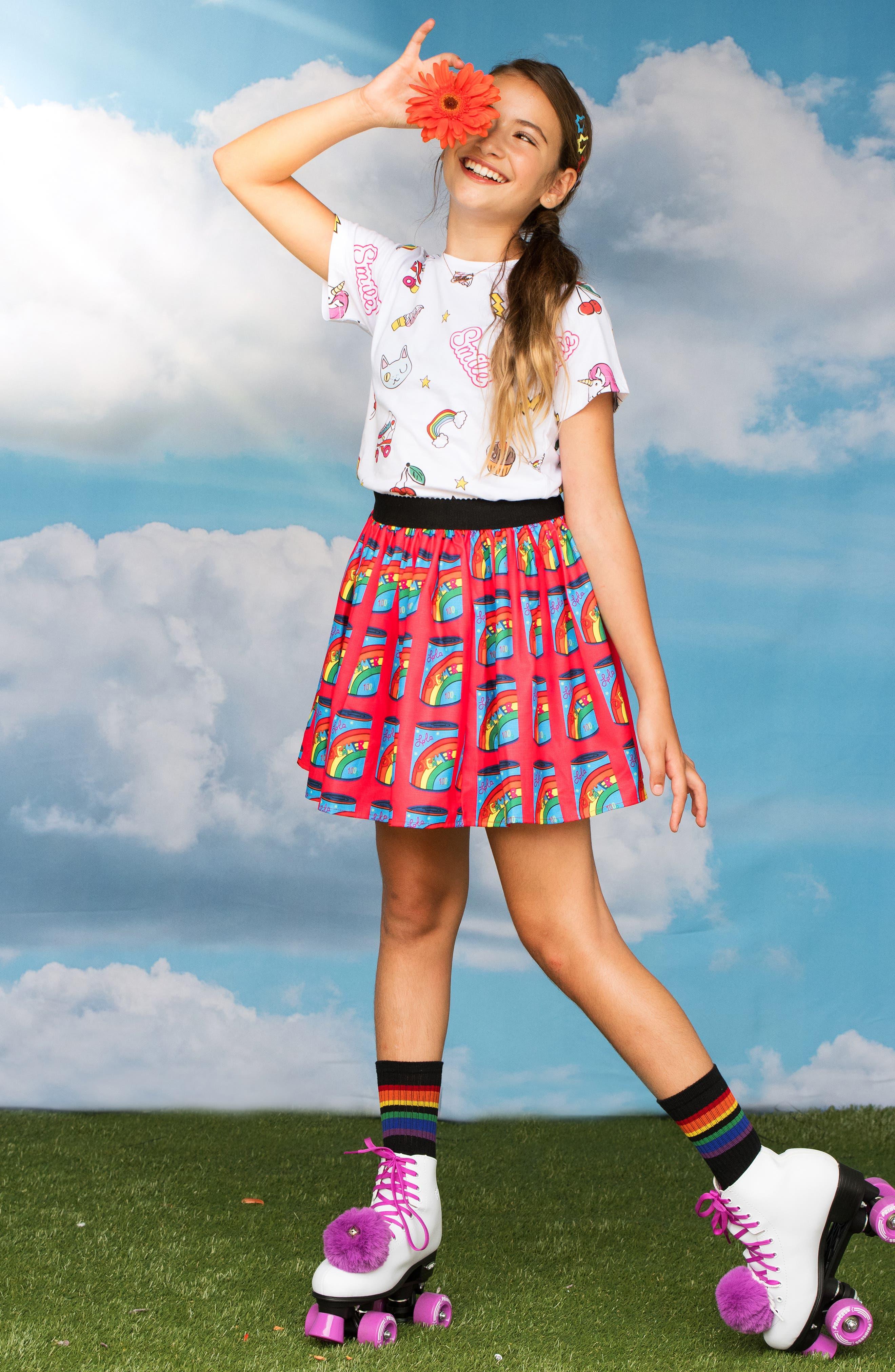 LOLA & THE BOYS, Dreamers Can Tutu Skirt, Alternate thumbnail 2, color, RED