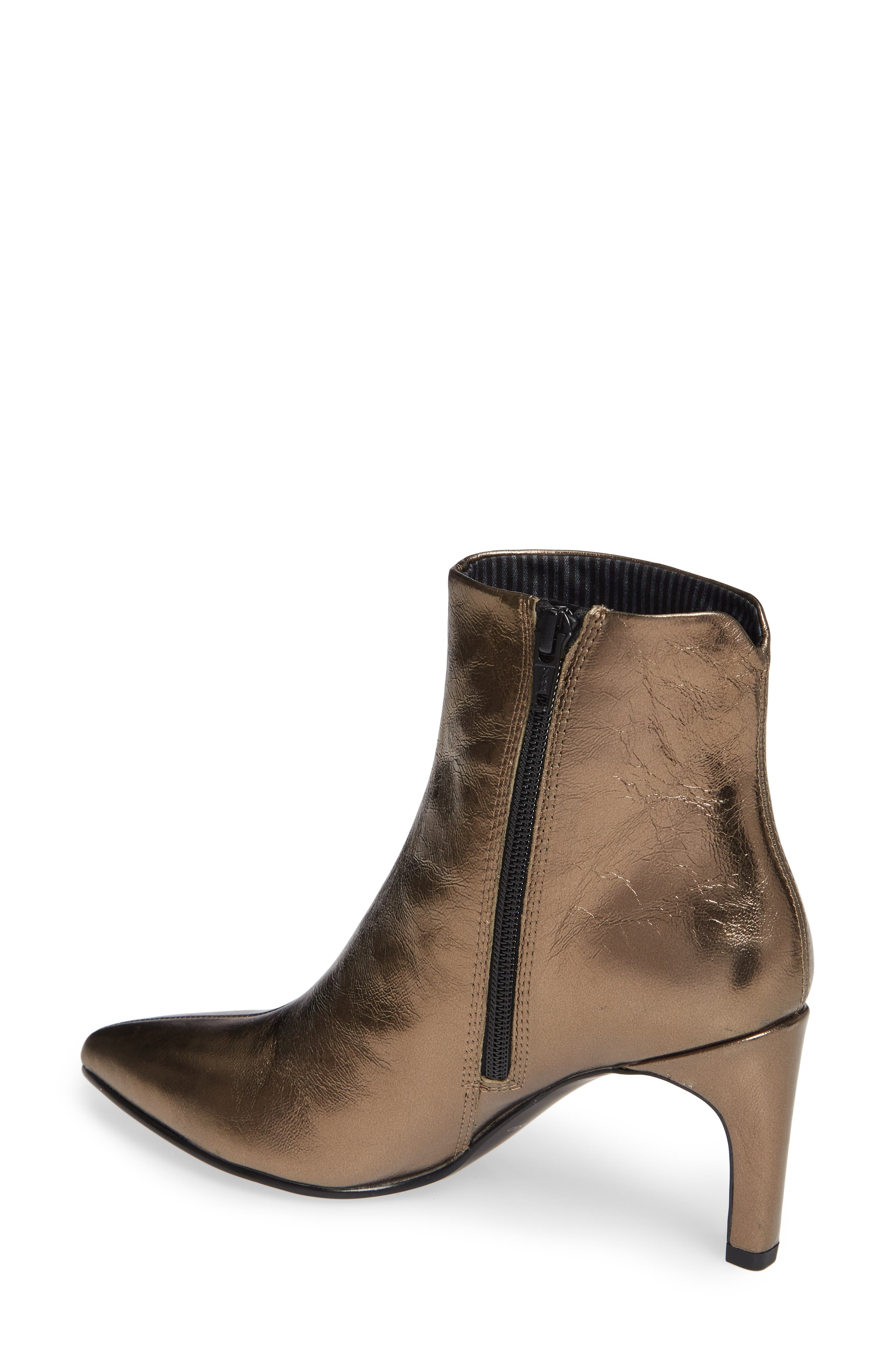 VAGABOND, Shoemakers Whitney Pointy Toe Bootie, Alternate thumbnail 2, color, BRONZE LEATHER