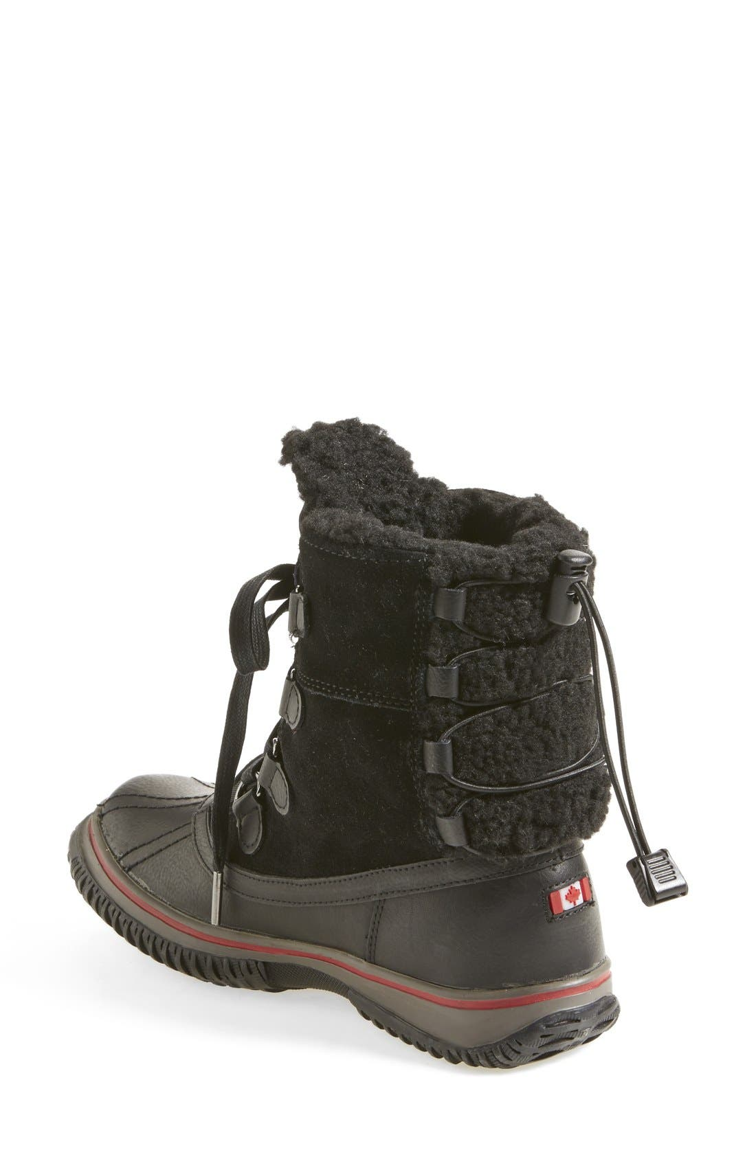 PAJAR, 'Iceland' Winter Boot, Alternate thumbnail 2, color, 001