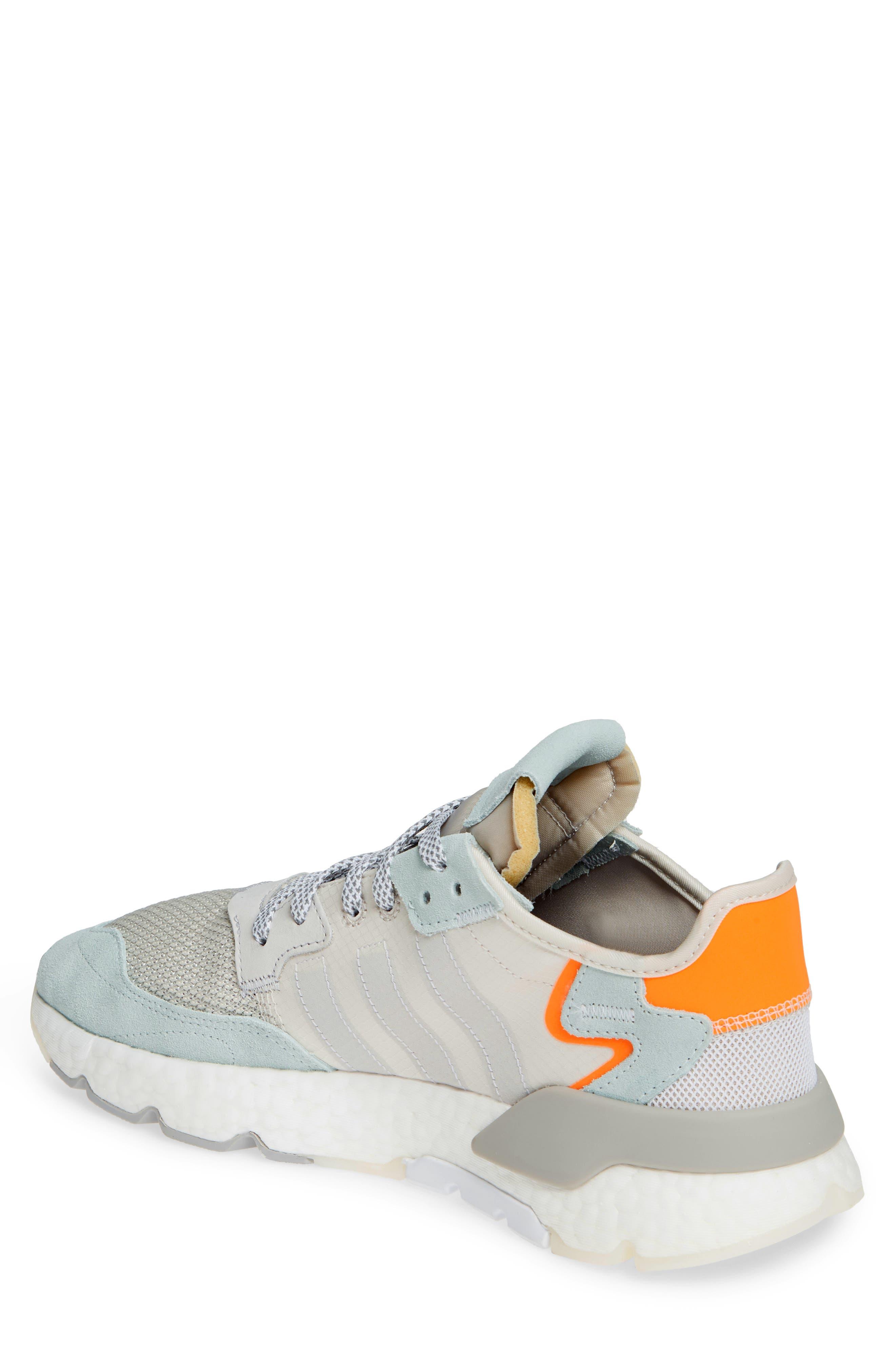 ADIDAS, Nite Jogger Sneaker, Alternate thumbnail 2, color, RAW WHITE/ GREY/ VAPOR GREEN