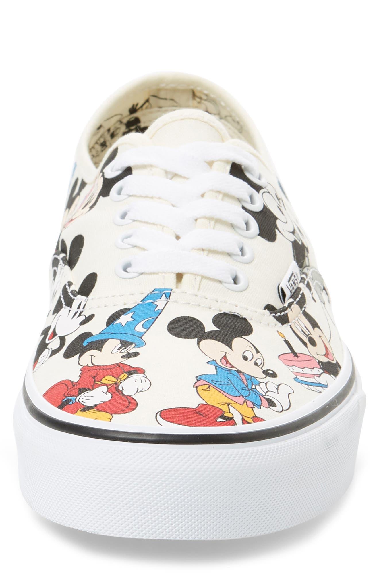 VANS, x Disney Authentic Low Top Sneaker, Alternate thumbnail 4, color, 250