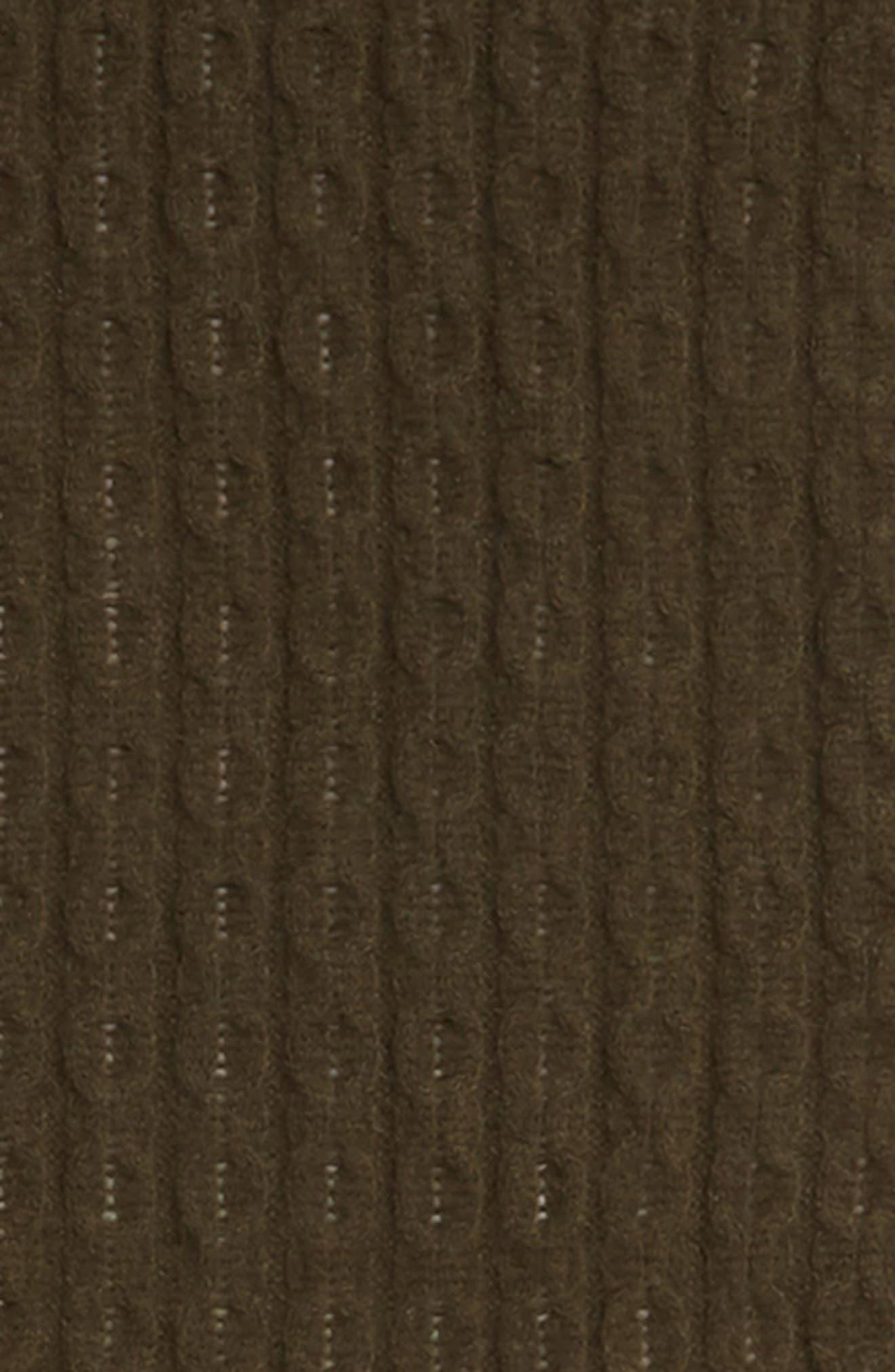 HALOGEN<SUP>®</SUP>, Cable Knit Cashmere Scarf, Alternate thumbnail 4, color, 315