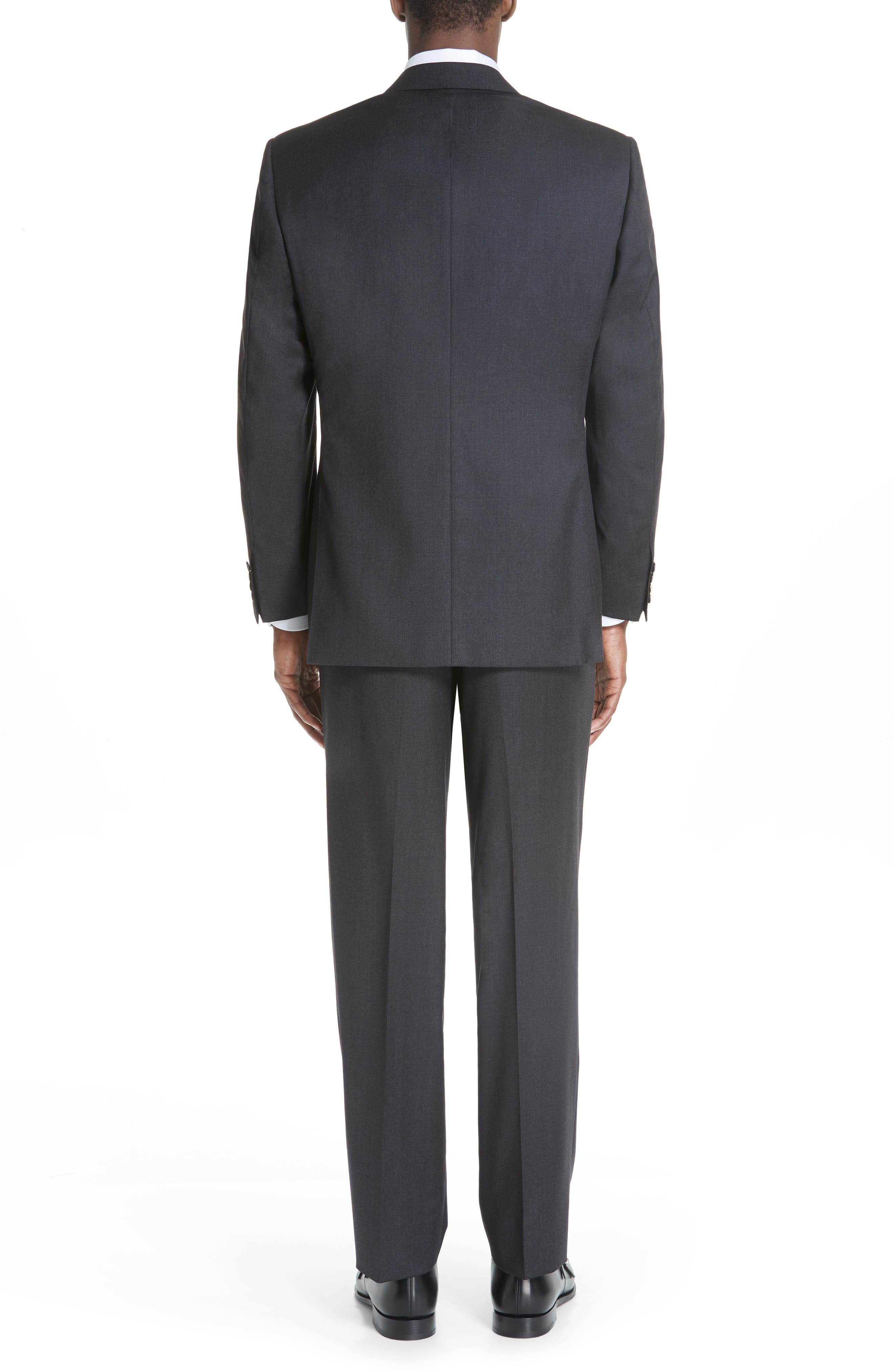 CANALI, Classic Fit Wool Suit, Alternate thumbnail 2, color, CHARCOAL