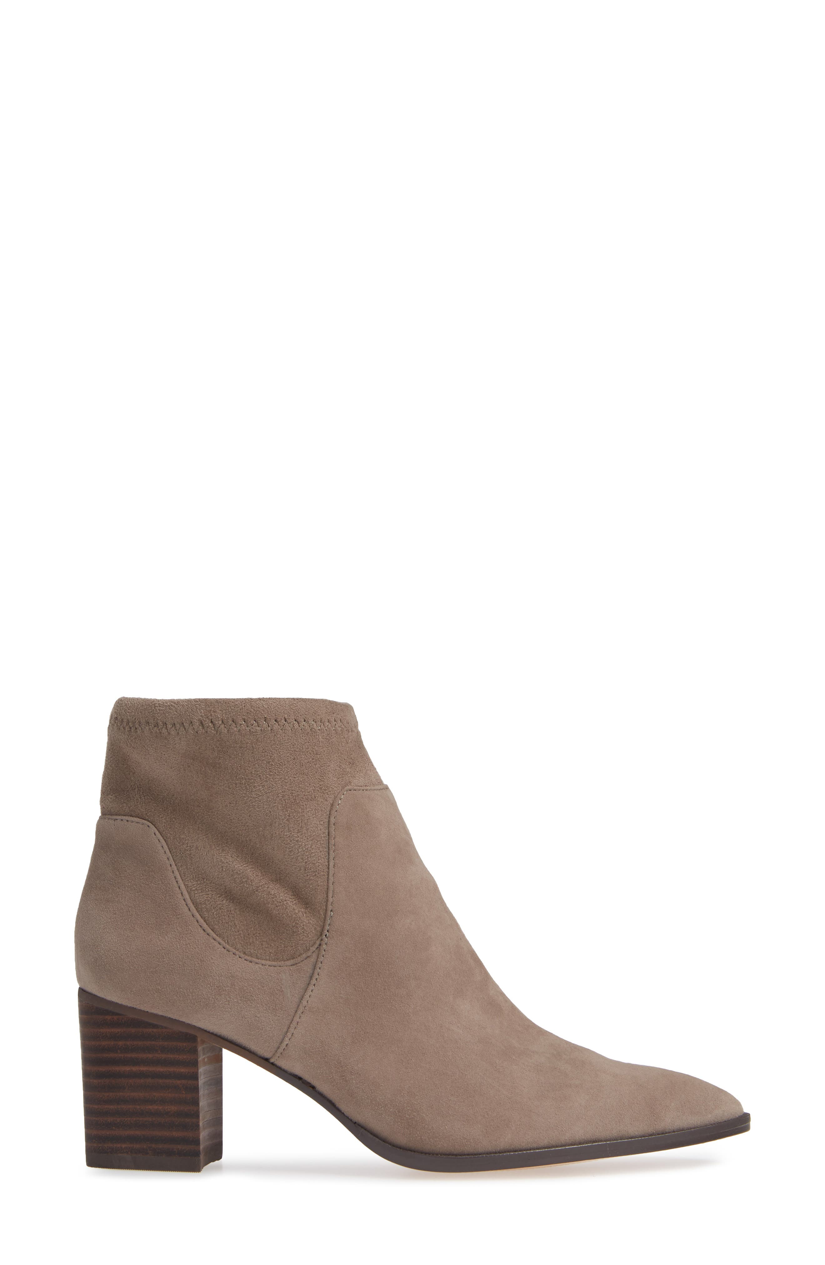 SOLE SOCIETY, Dawnina Bootie, Alternate thumbnail 3, color, PORCINI SUEDE