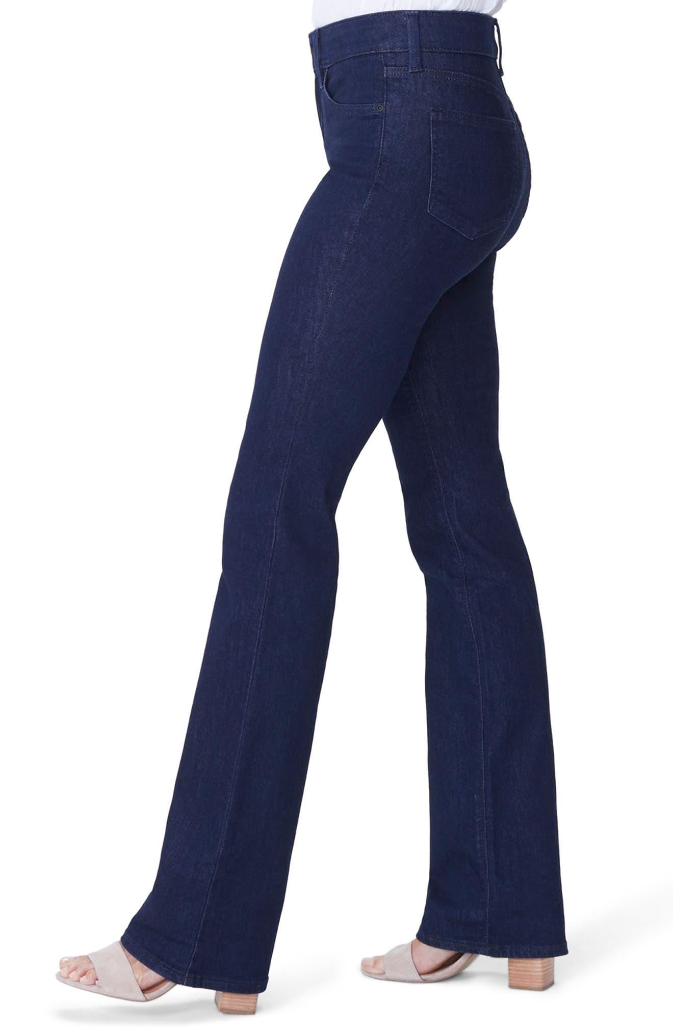 NYDJ, Barbara High Waist Stretch Bootcut Jeans, Alternate thumbnail 4, color, RINSE