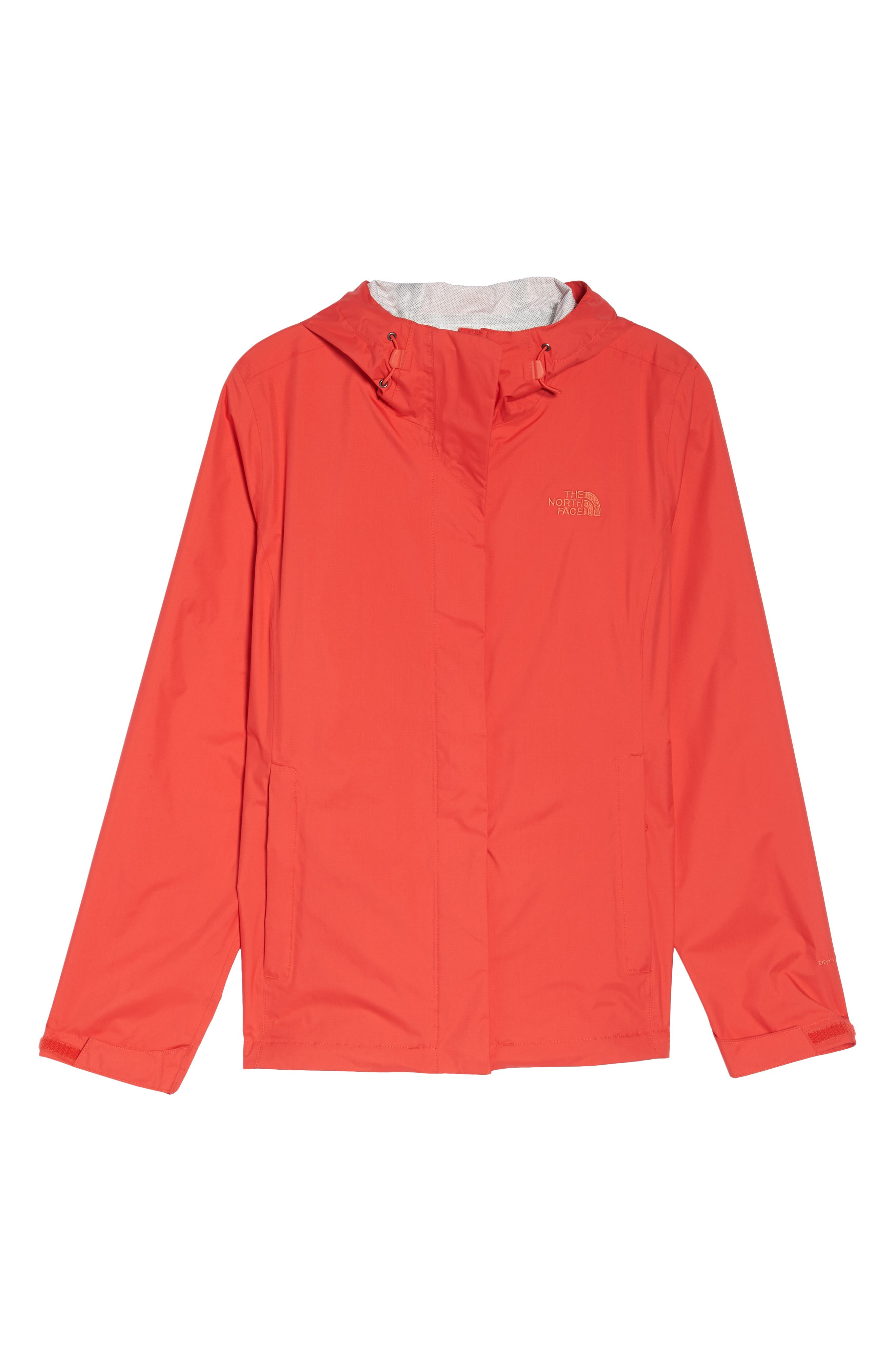 THE NORTH FACE, Venture 2 Waterproof Jacket, Alternate thumbnail 6, color, JUICY RED