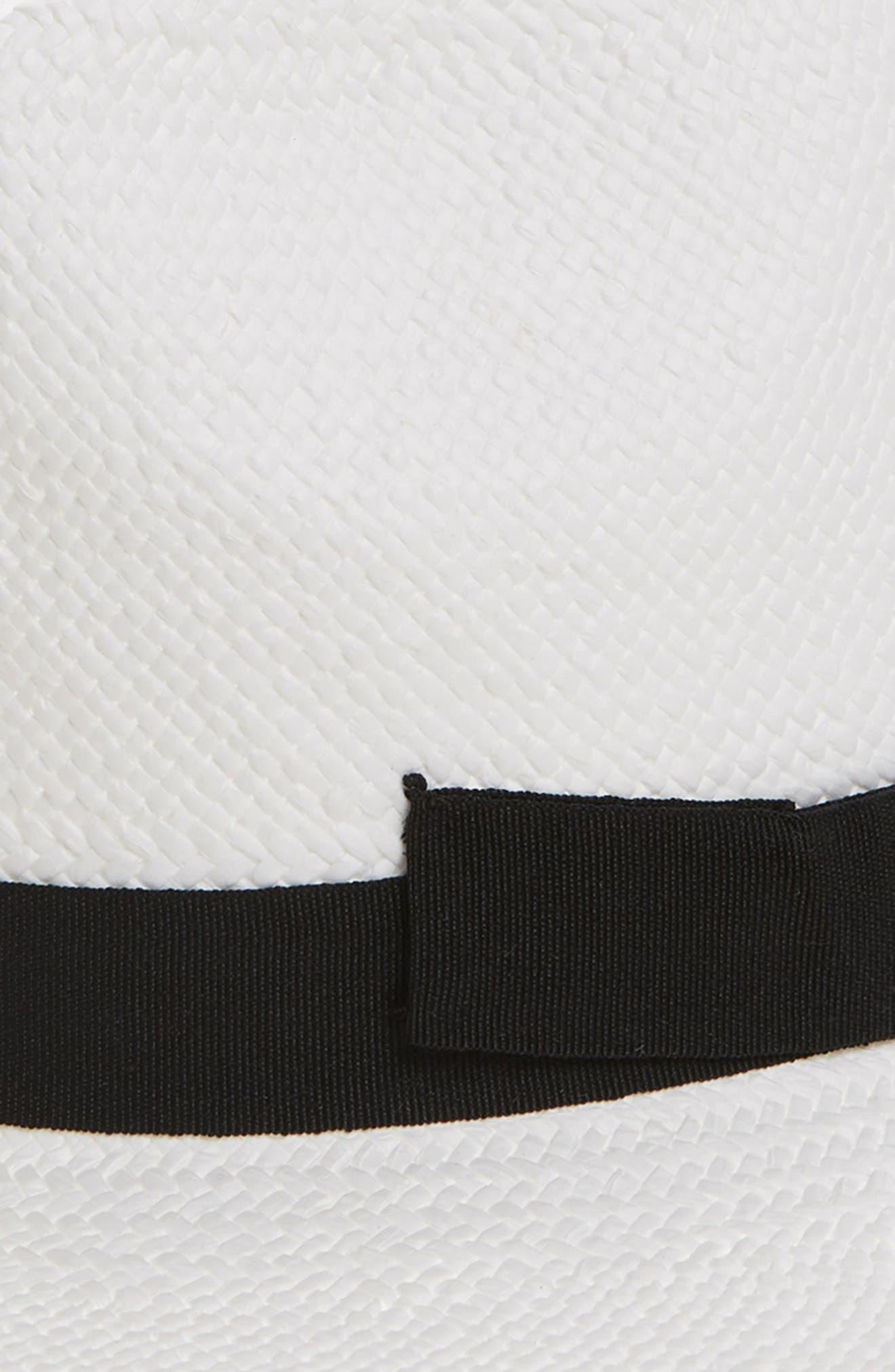 HALOGEN<SUP>®</SUP>, Woven Panama Hat, Alternate thumbnail 2, color, WHITE