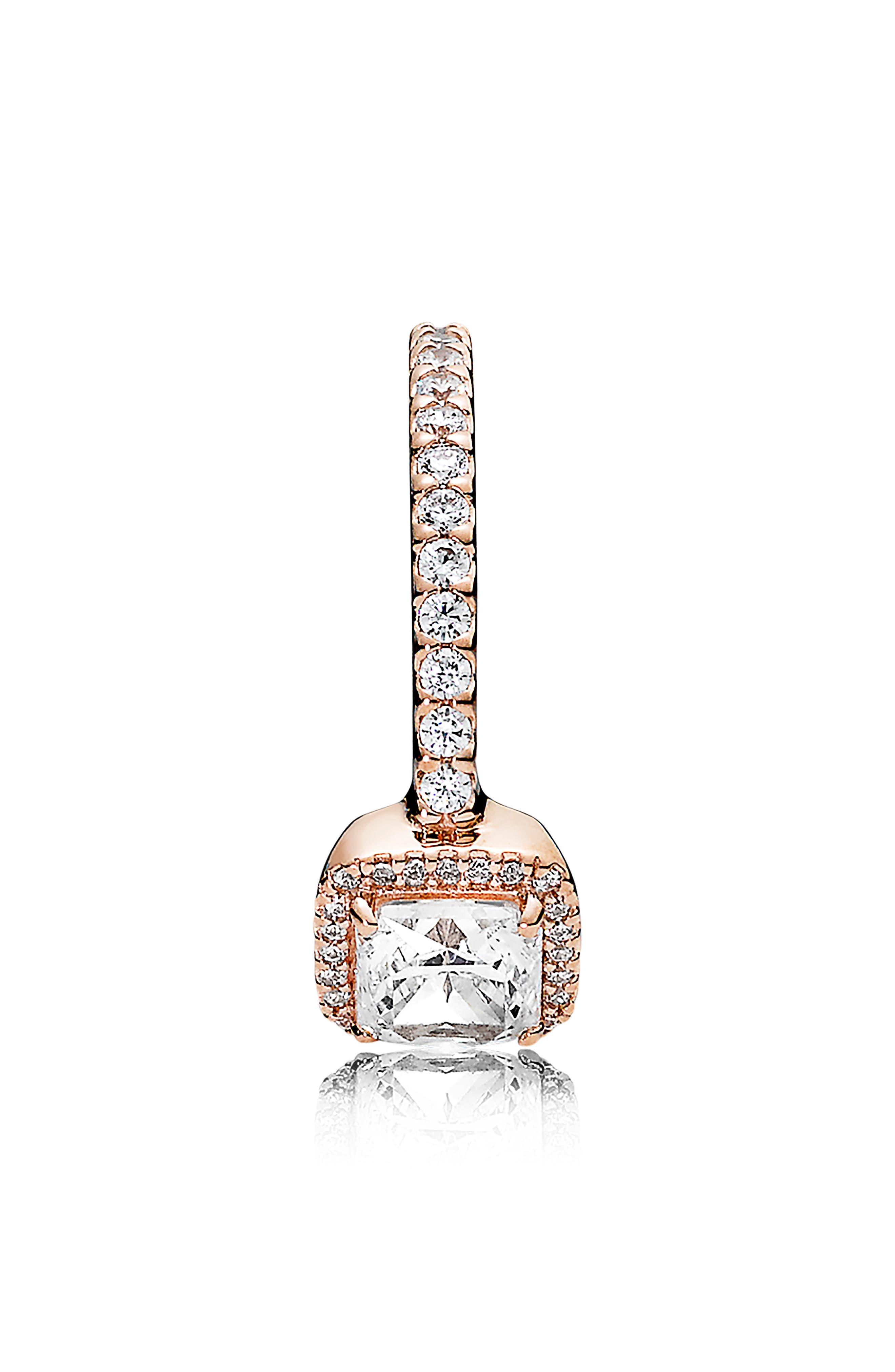 PANDORA, Timeless Elegance Ring, Alternate thumbnail 3, color, ROSE GOLD