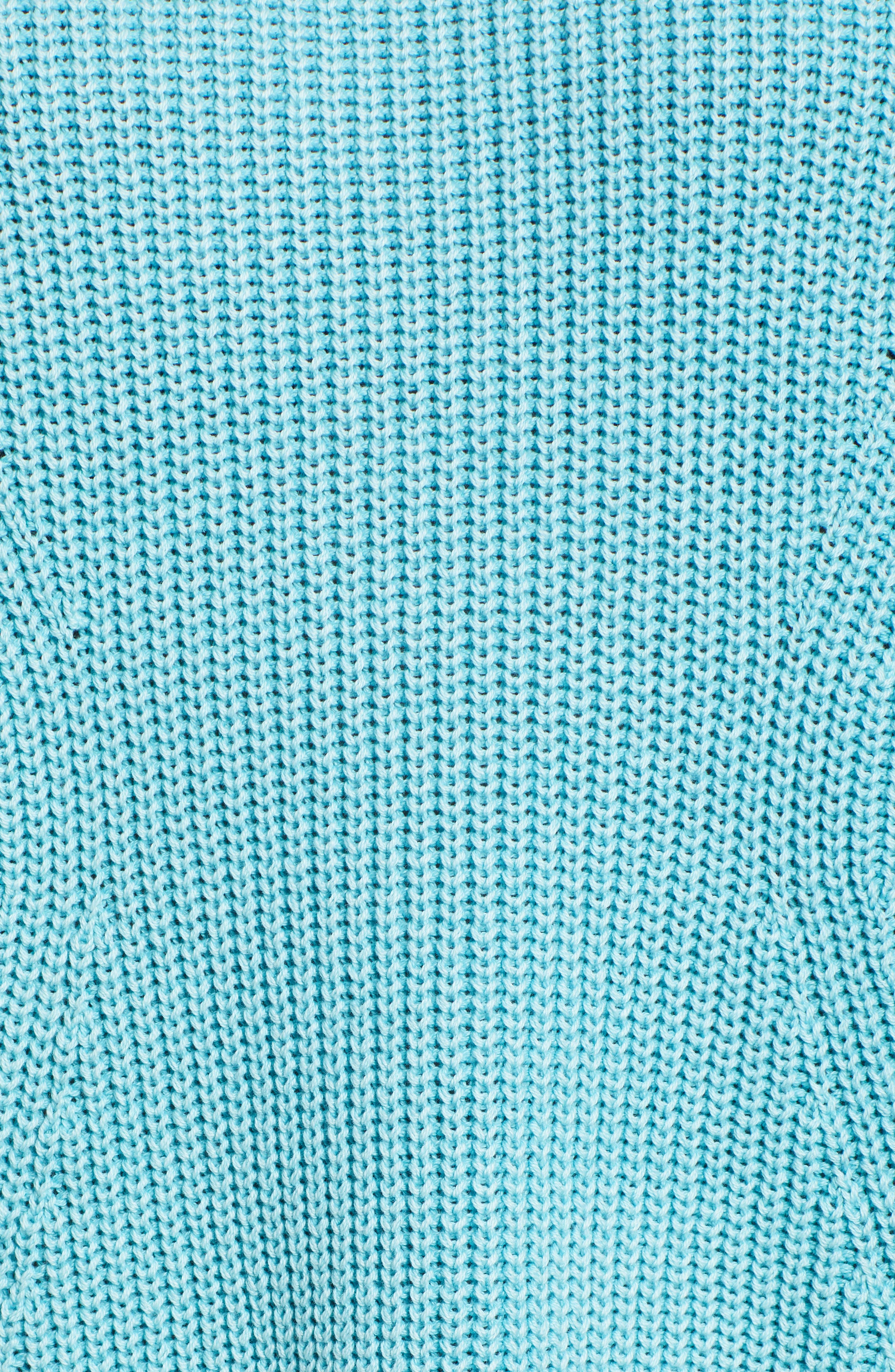 CASLON<SUP>®</SUP>, Tie Back Tunic Sweater, Alternate thumbnail 5, color, BLUE MAUI