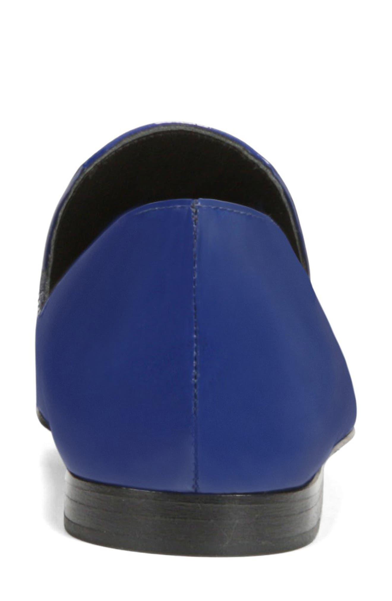 VIA SPIGA, Tallis Flat Loafer, Alternate thumbnail 7, color, POP BLUE