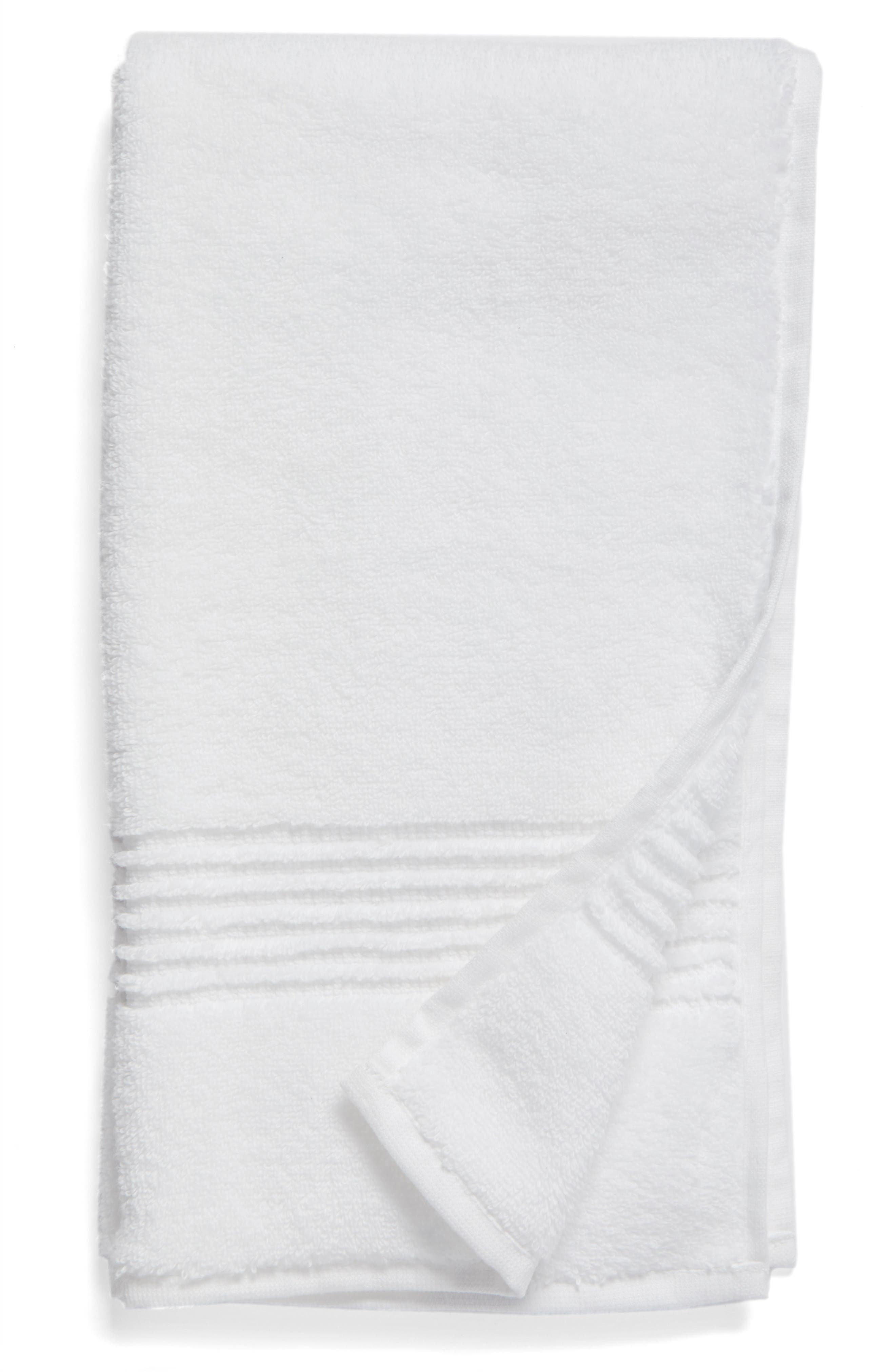 NORDSTROM AT HOME Organic Hydrocotton Heathered Hand Towel, Main, color, WHITE