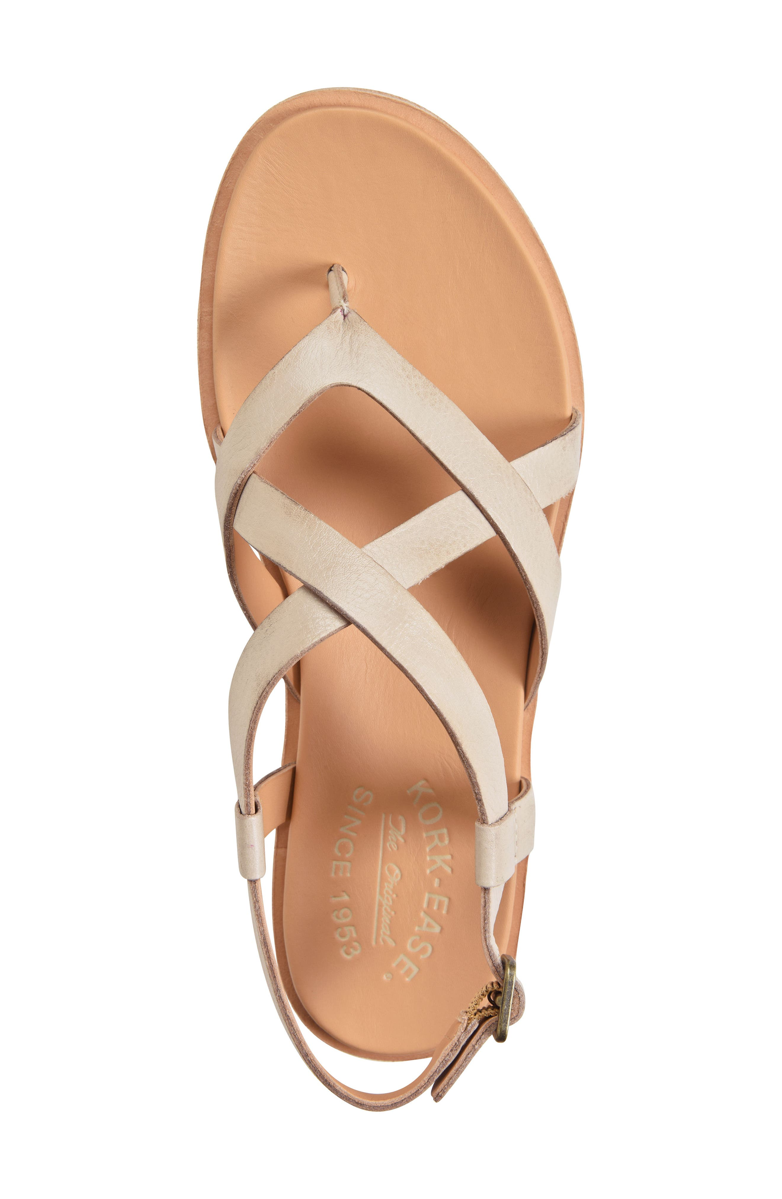 KORK-EASE<SUP>®</SUP>, Yarbrough Sandal, Alternate thumbnail 5, color, LIGHT GREY LEATHER