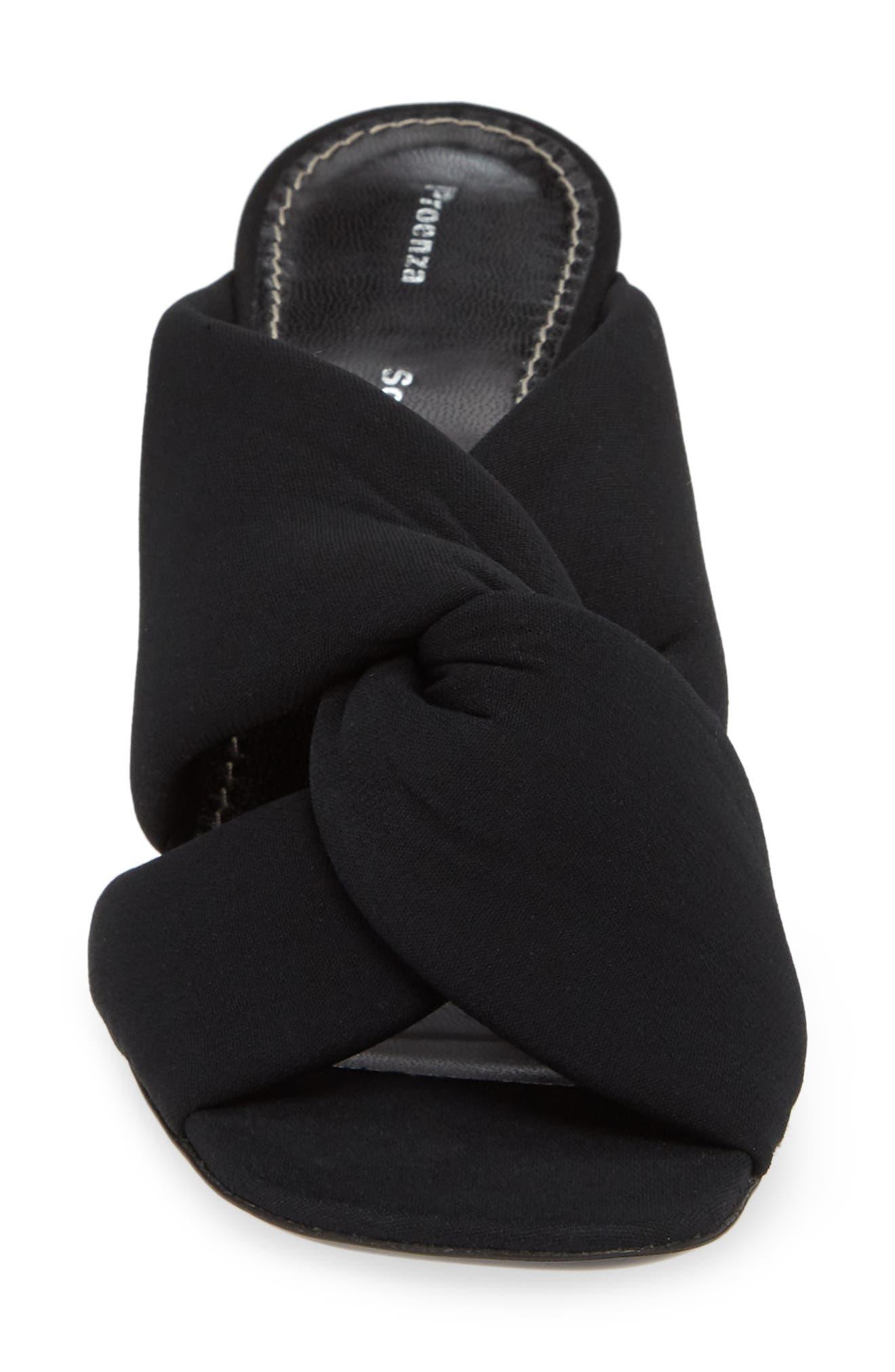 PROENZA SCHOULER, Knotted Slide Sandal, Alternate thumbnail 4, color, BLACK
