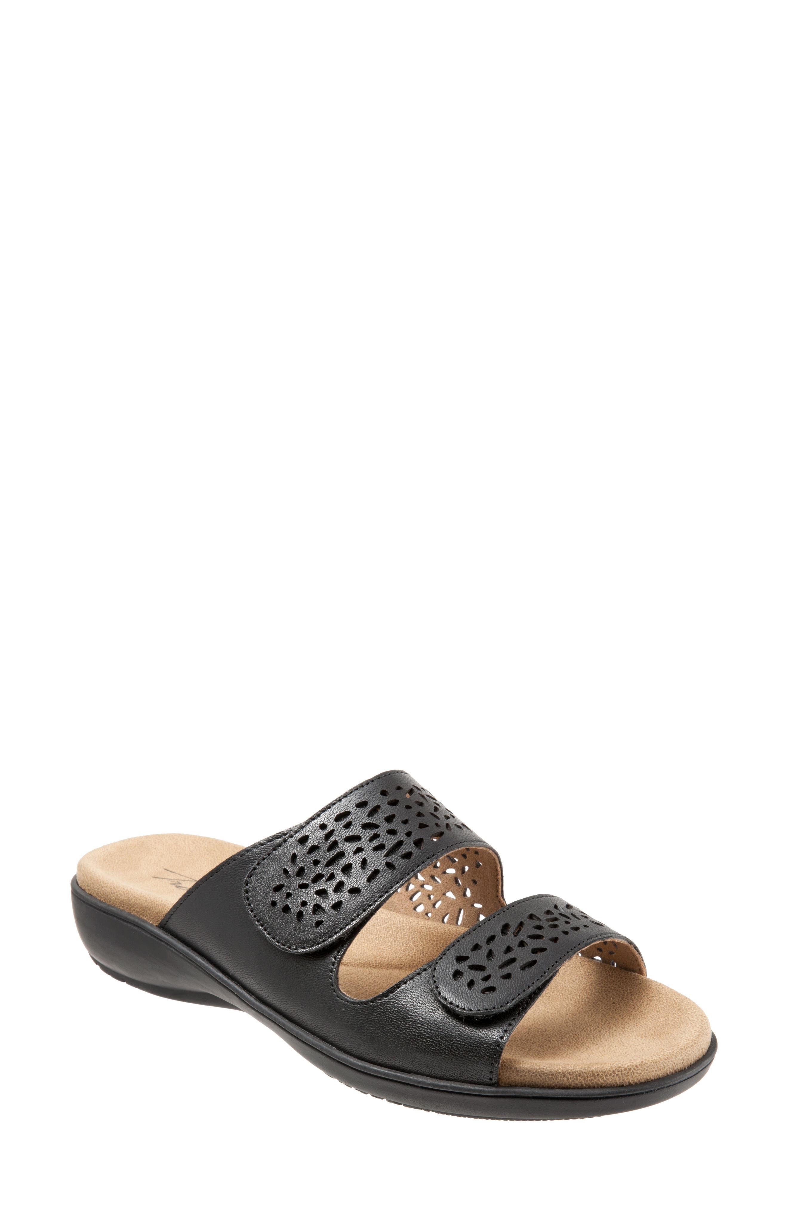 TROTTERS Tokie Sandal, Main, color, BLACK LEATHER