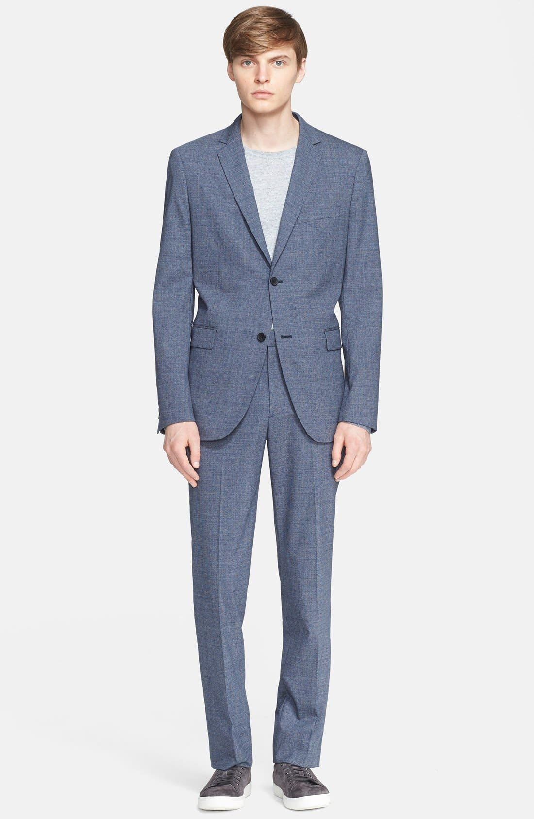 THEORY, 'Jake' Stretch Wool Trousers, Alternate thumbnail 5, color, 462