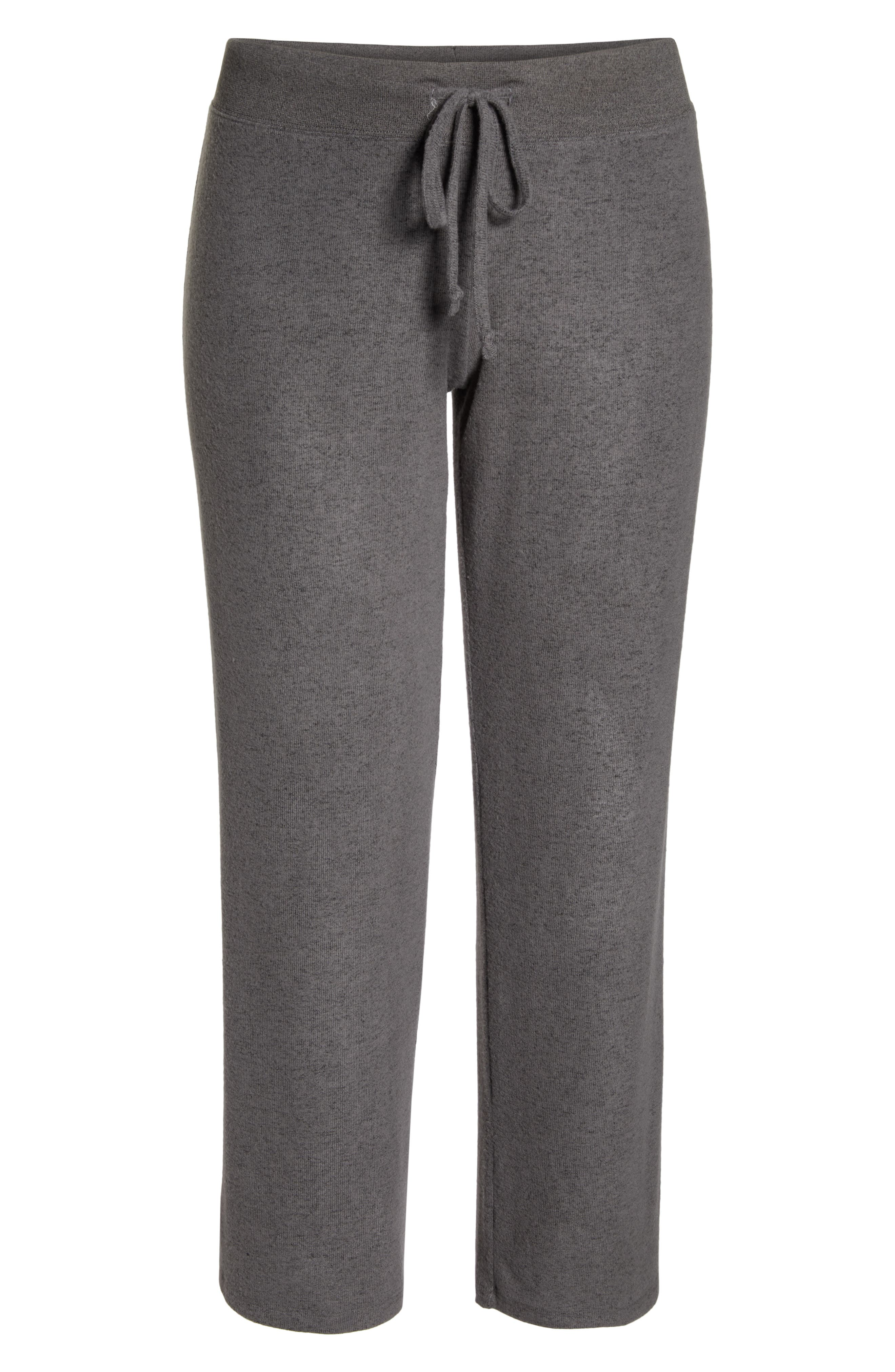 MAKE + MODEL, 'Best Boyfriend' Brushed Hacci Lounge Pants, Alternate thumbnail 6, color, GREY PAVEMENT MARL