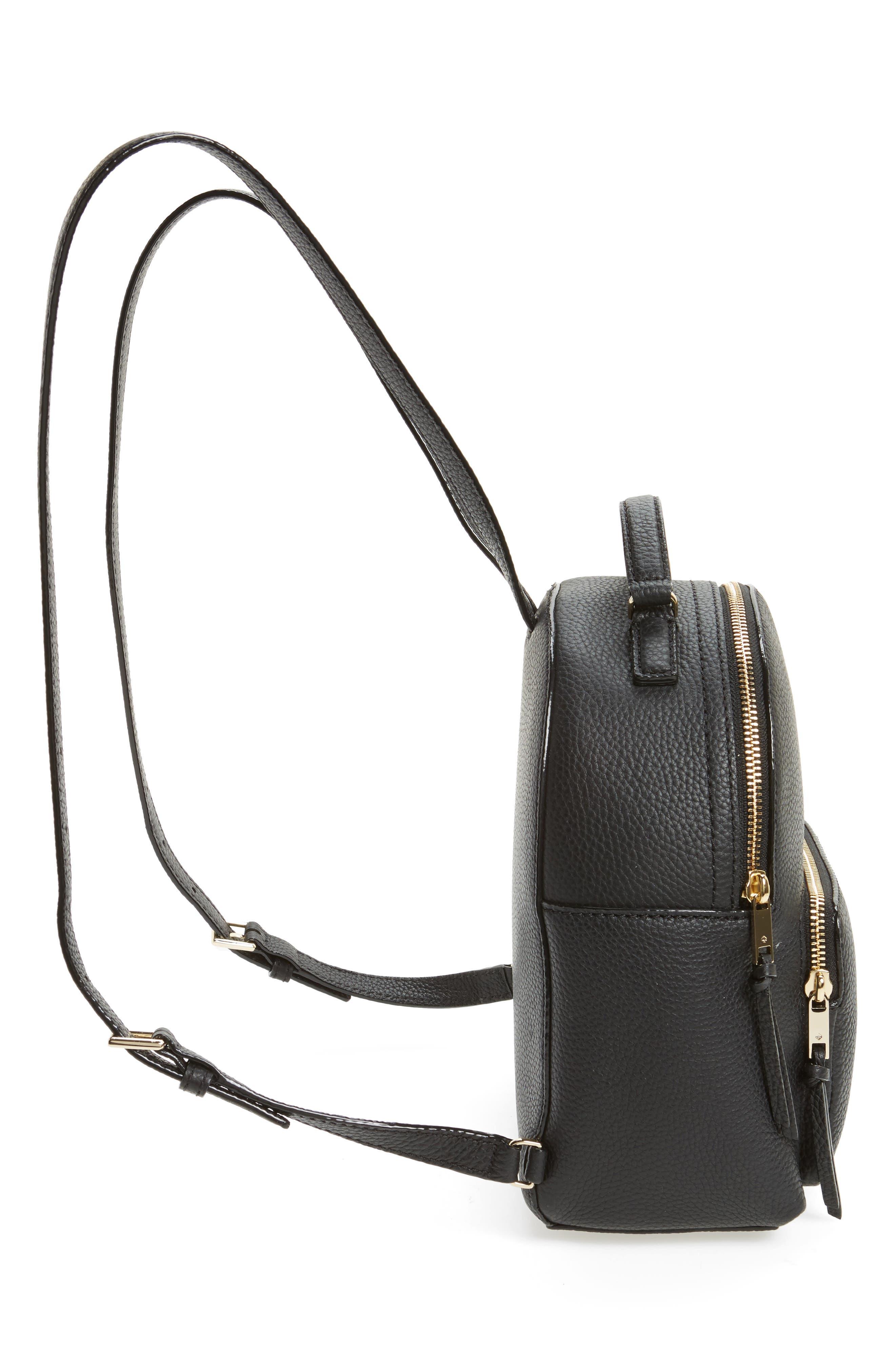 KATE SPADE NEW YORK, jackson street - keleigh leather backpack, Alternate thumbnail 5, color, 001