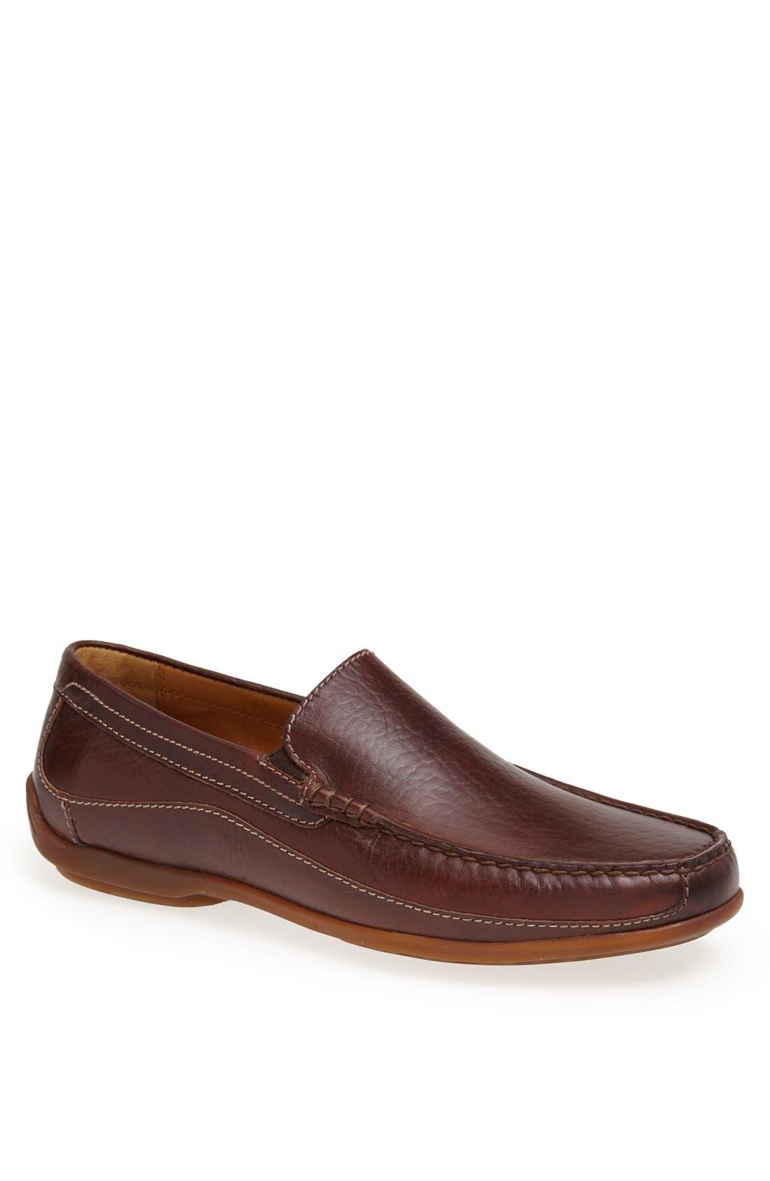 TRASK 'Declan' Moc Toe Venetian Slip-On, Main, color, BOURBON AMERICAN BISON