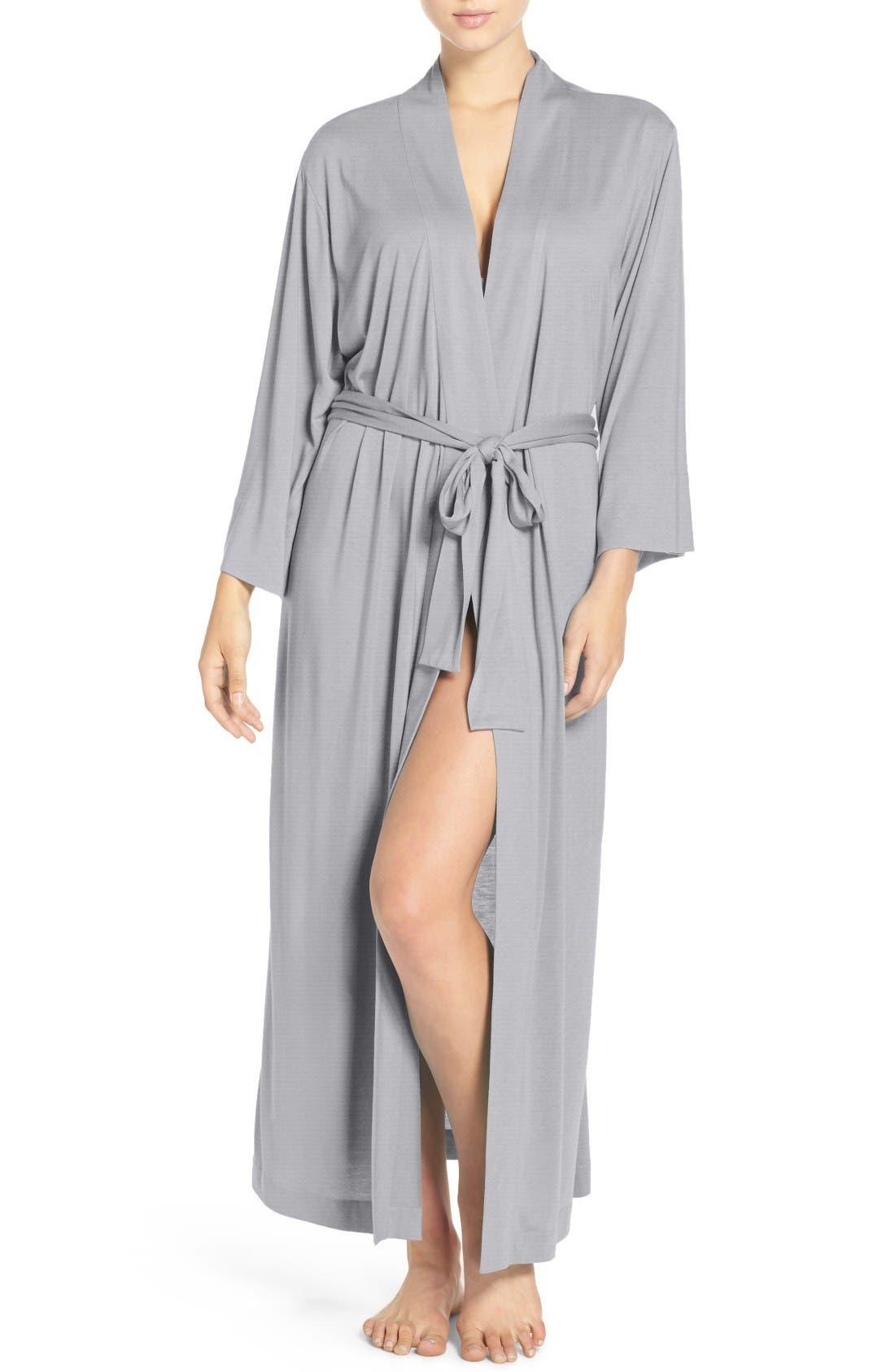 NATORI 'Shangri-La' Robe, Main, color, HEATHER GREY